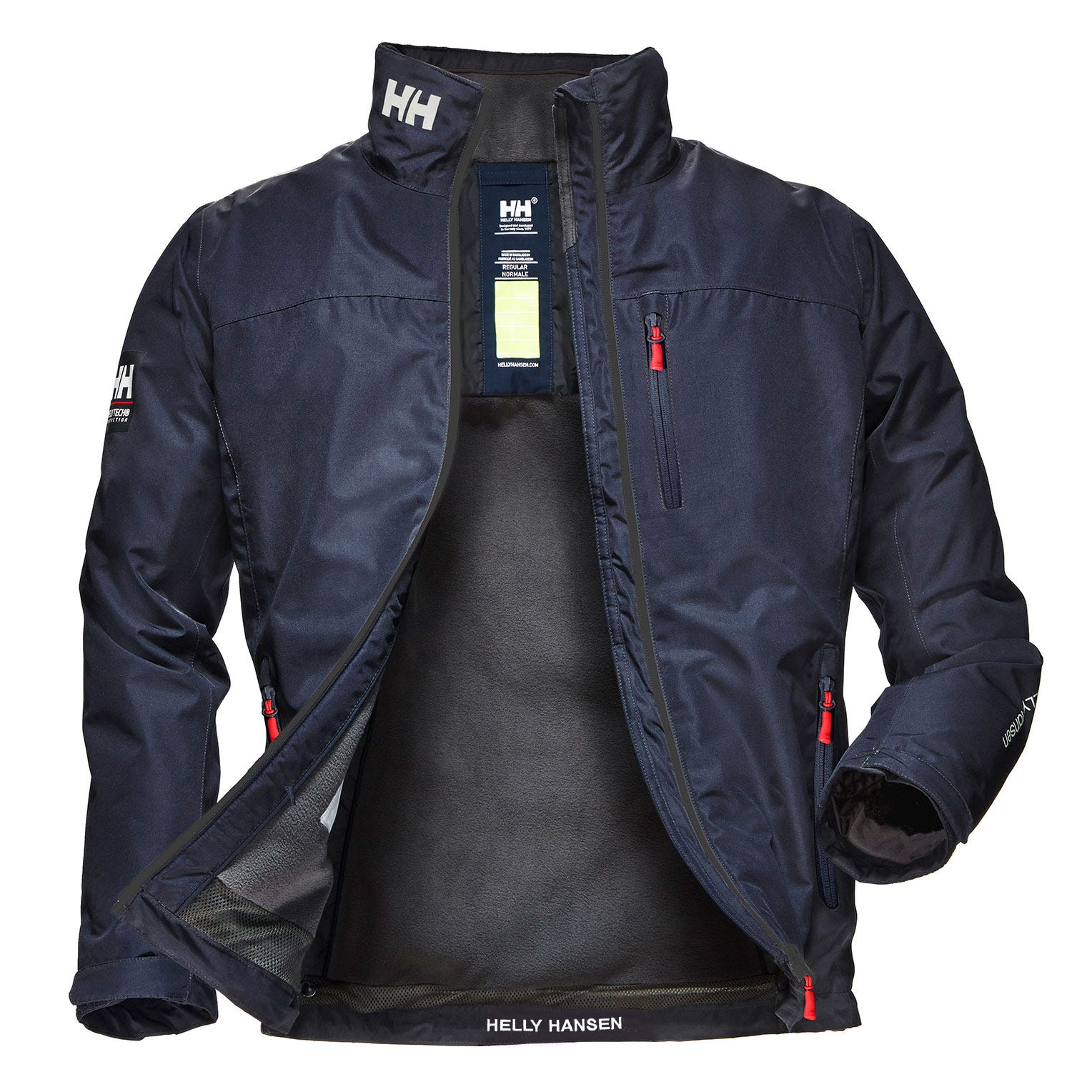 Helly Hansen Mens Crew Midlayer Sailing Jacket Navy L