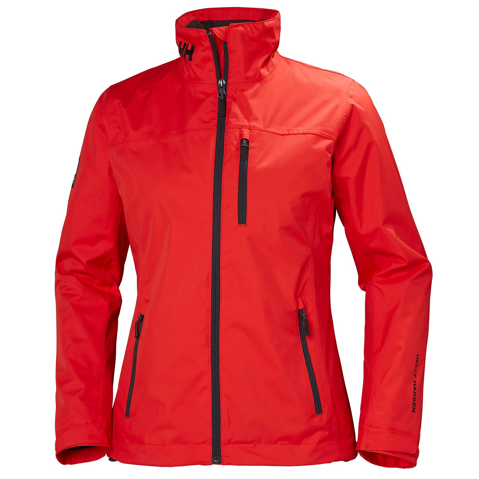 Helly Hansen Womens Crew Midlayer Sailing Jacket Red L