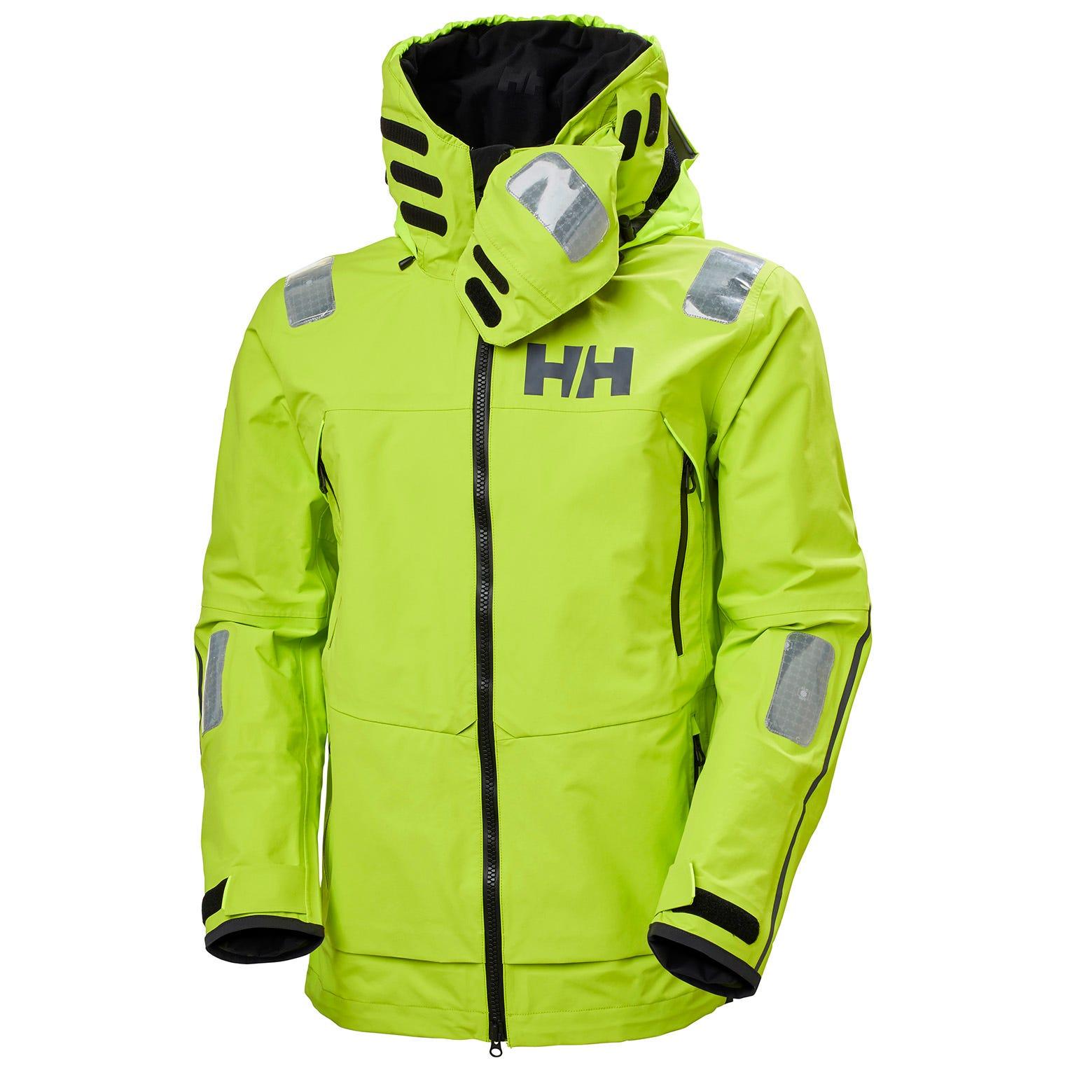 Helly Hansen Mens Aegir Race Sailing Jacket Green XXL