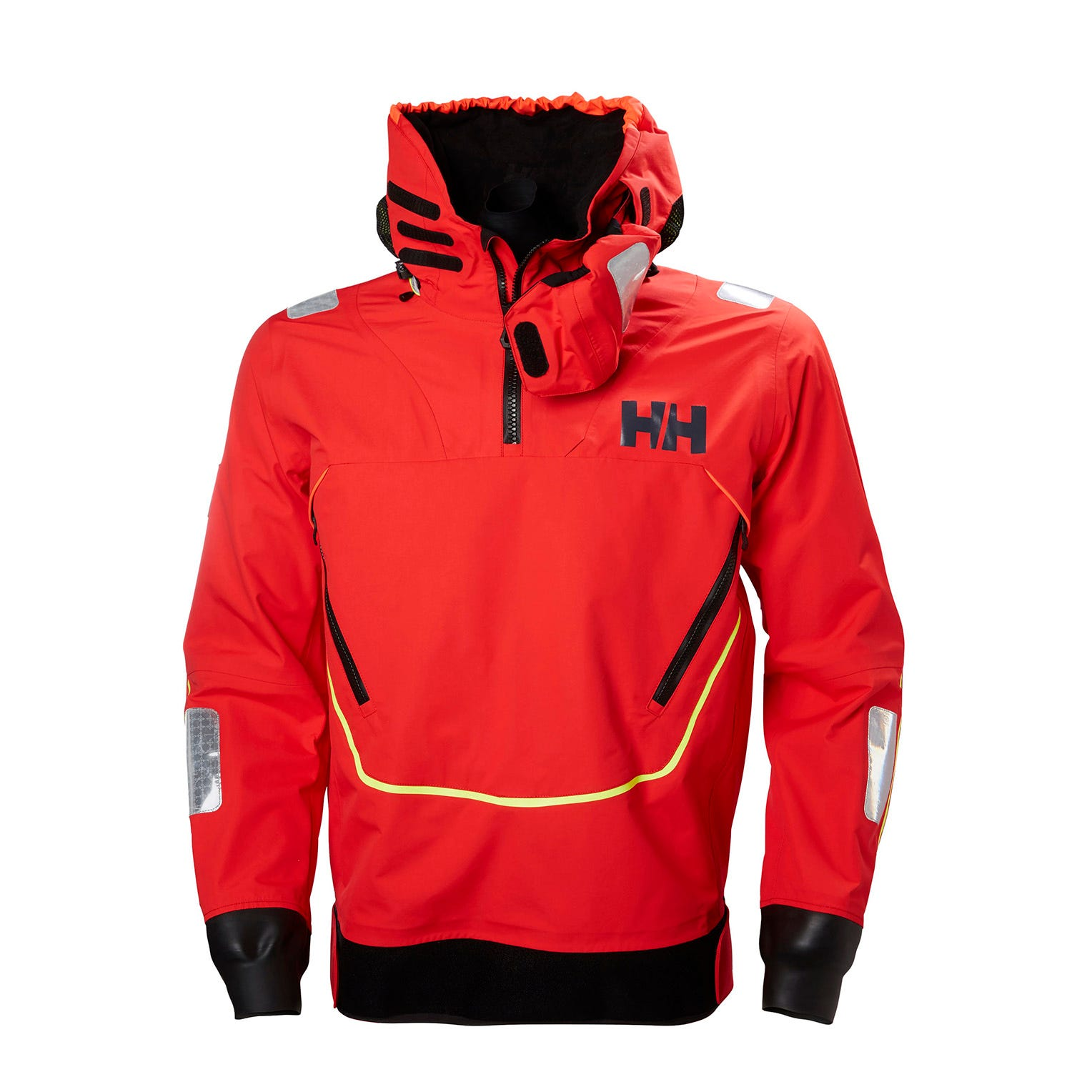 Mens Ægir Race Offshore Smock Top | Helly Hansen Sailing Jacket Red XXL