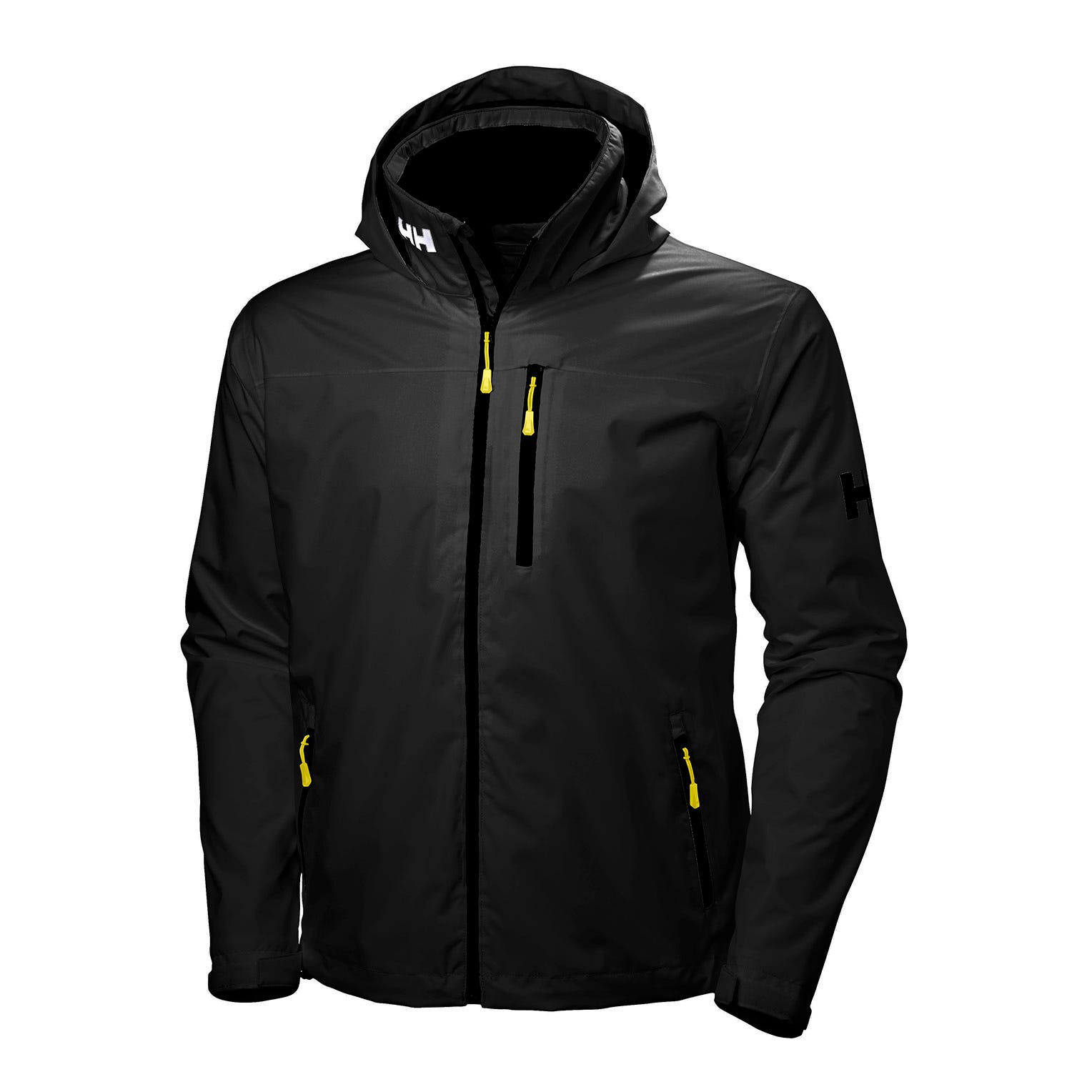 Helly Hansen Mens Crew Hooded Midlayer Sailing Jacket Black S