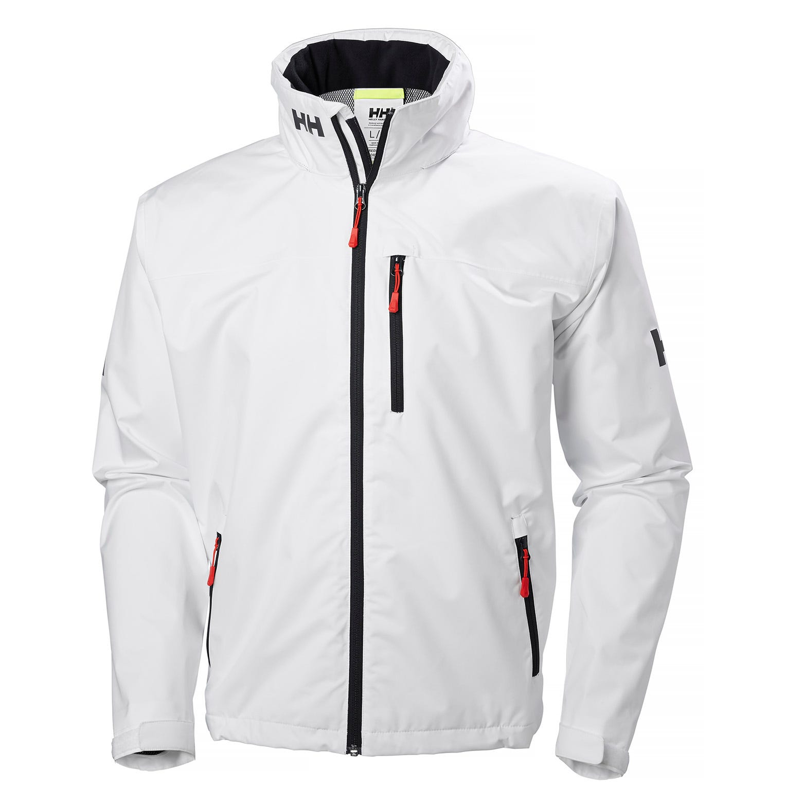 Helly Hansen Mens Crew Hooded Sailing Jacket White XXL