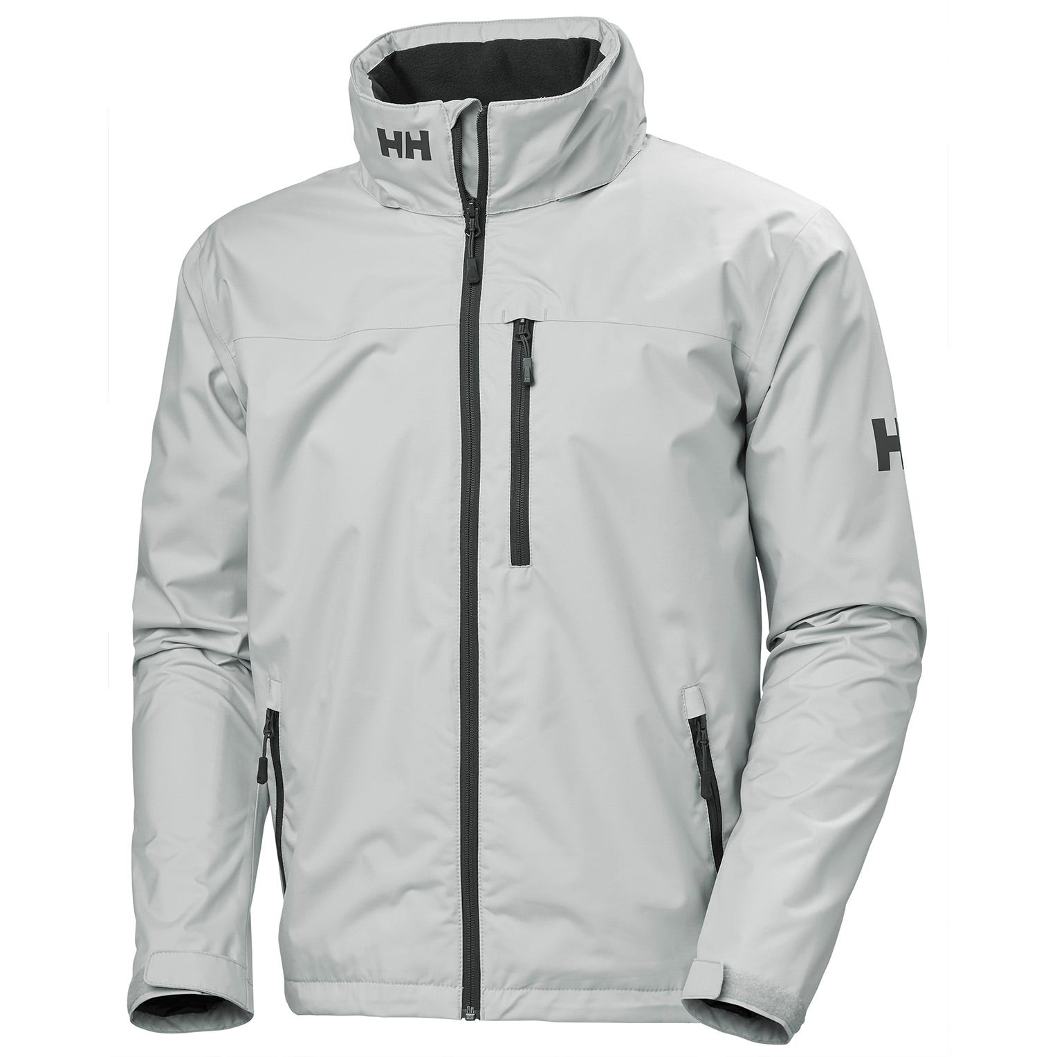 Helly Hansen Mens Crew Hooded Sailing Jacket Grey M