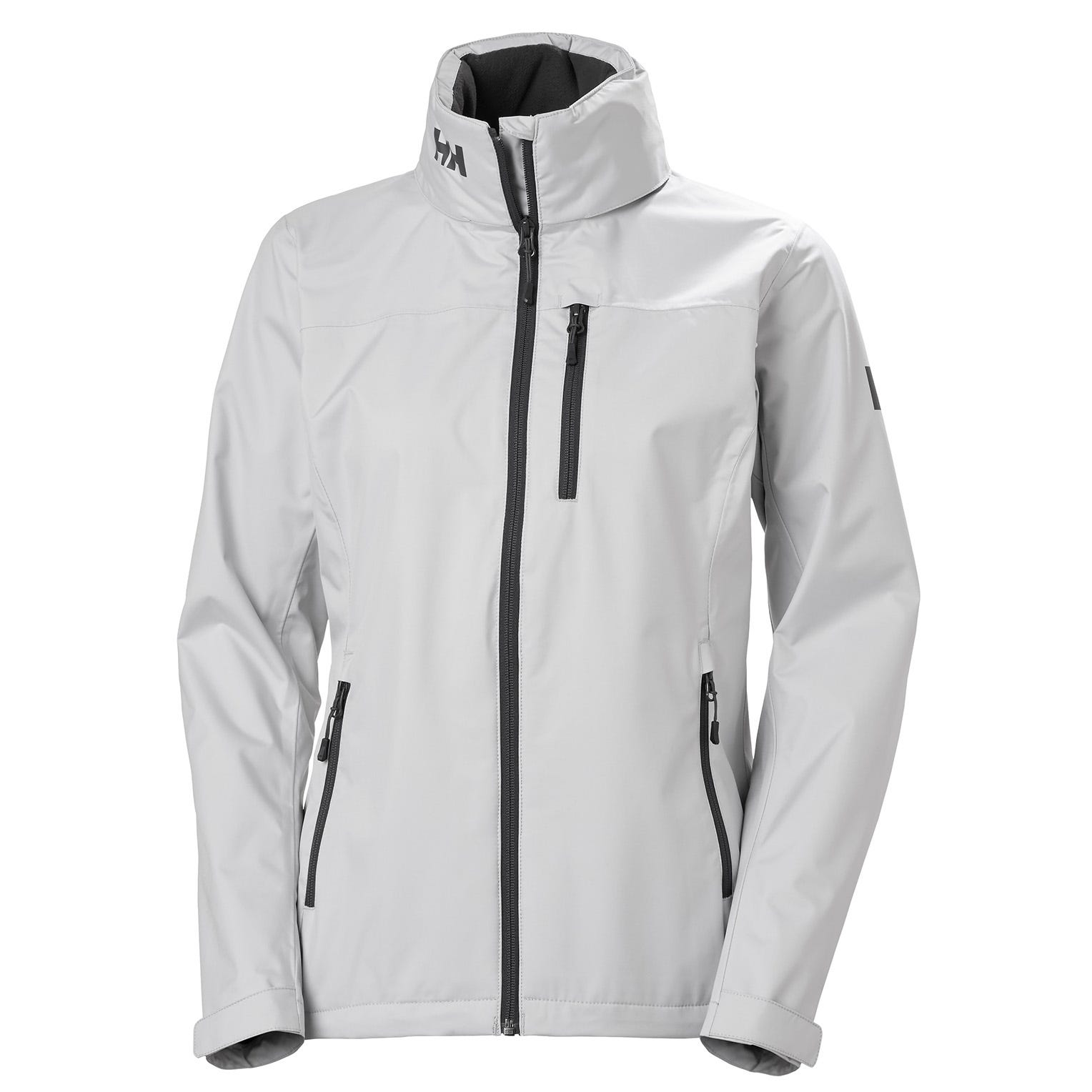 Helly Hansen Womens Crew Hooded Sailing Jacket Grey L
