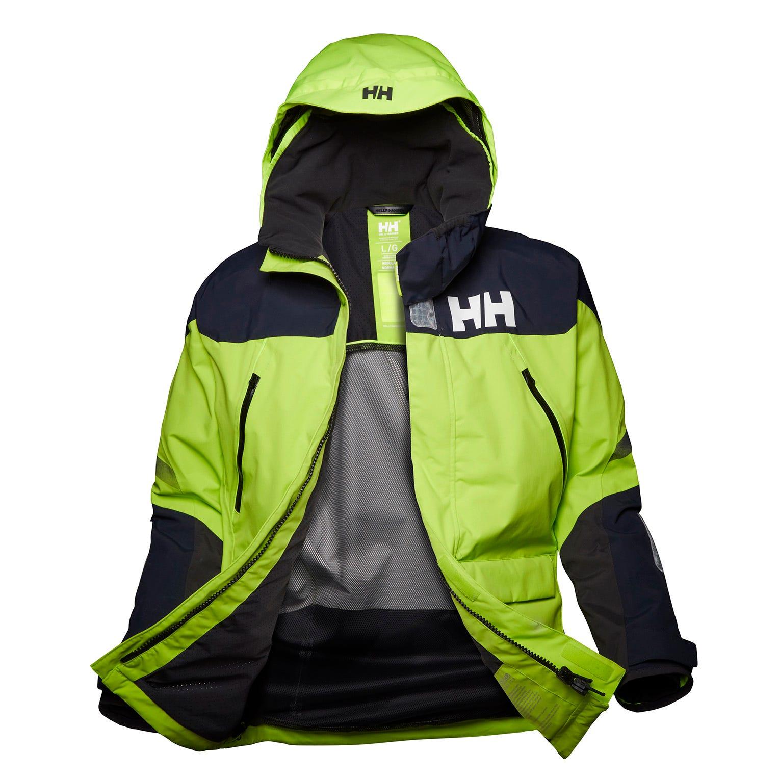 Helly Hansen Mens Sailing Jacket Green L
