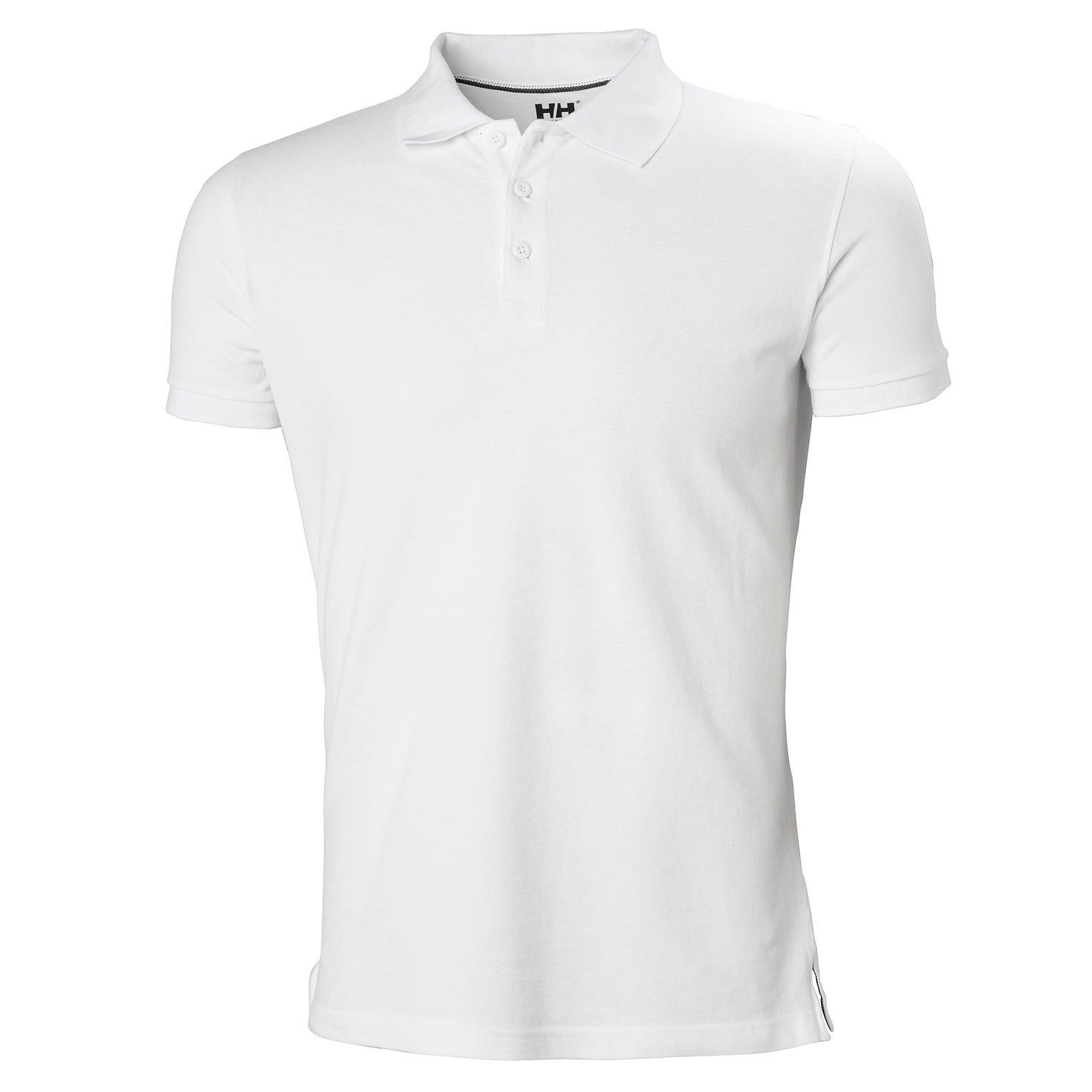 Mens Crew Cotton Pique Quick-dry Polo Shirt | Helly Hansen Mens Performance Wicking White XXL