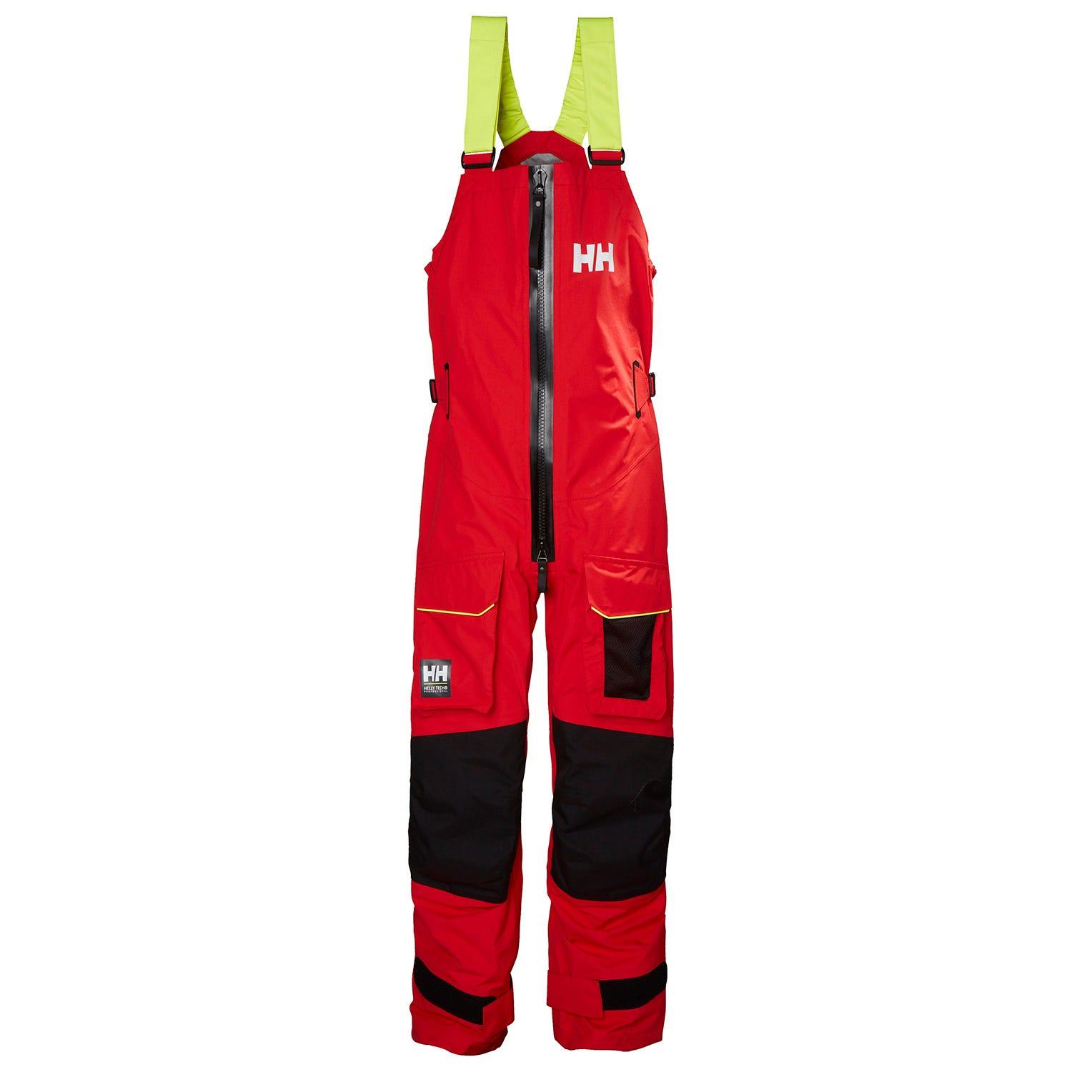 Helly Hansen Mens Aegir Ocean Durable Trousers Red XXL