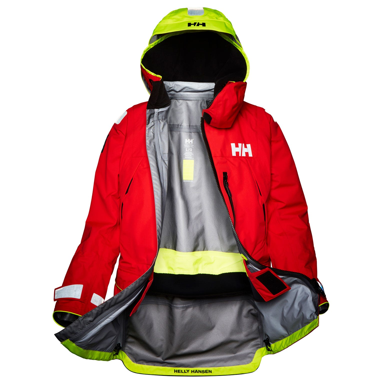 Helly Hansen Mens Aegir Ocean Sailing Jacket Red XL