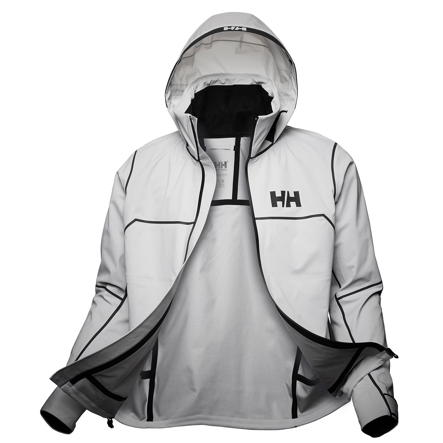 Helly Hansen Mens Hp Foil Pro Sailing Jacket Grey S