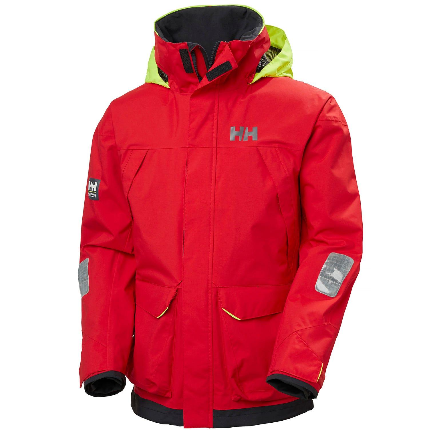 Helly Hansen Mens Pier 3.0 Coastal Sailing Jacket Red XL