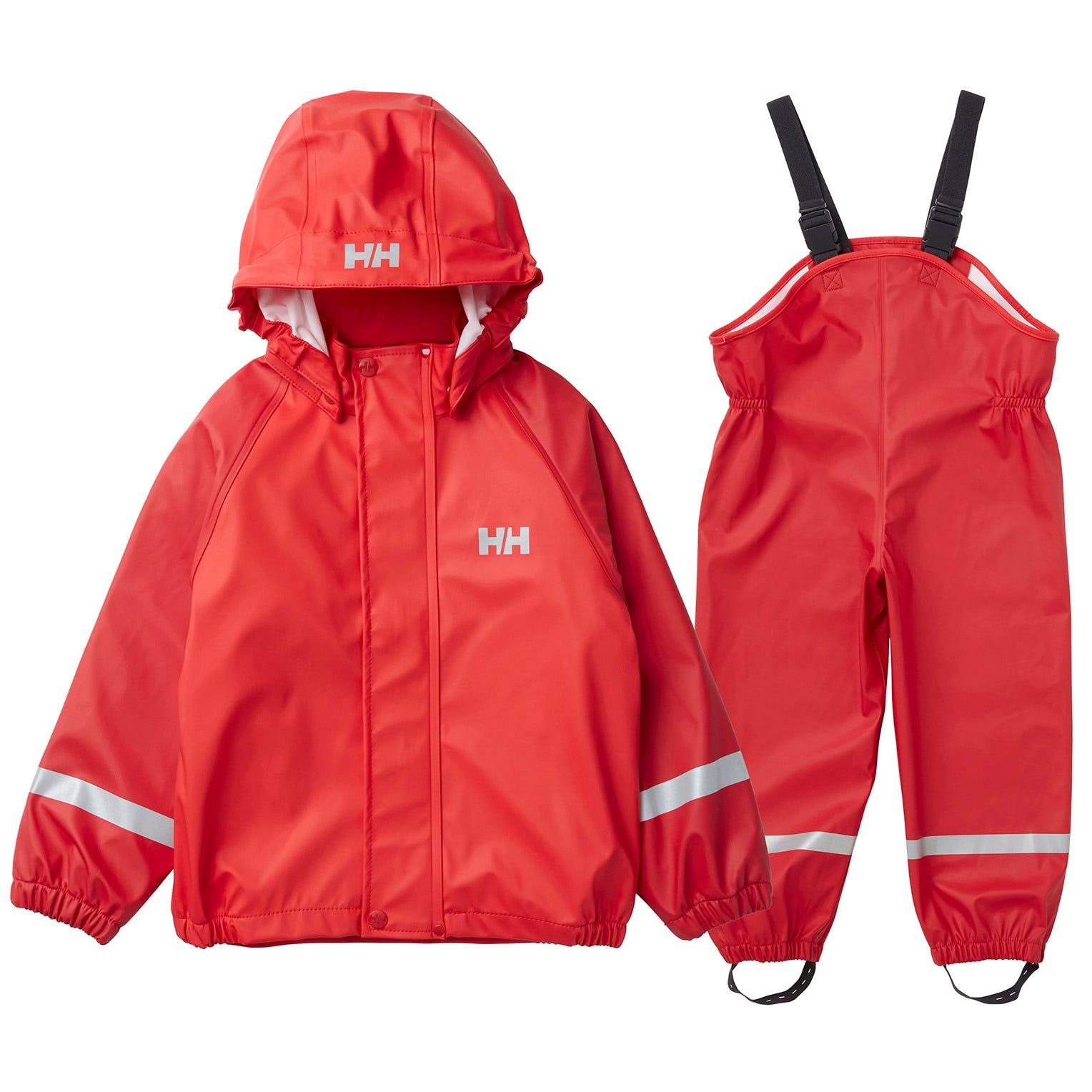 Helly Hansen Kids Bergen Windproof Pu Rain Set   122/7 Red