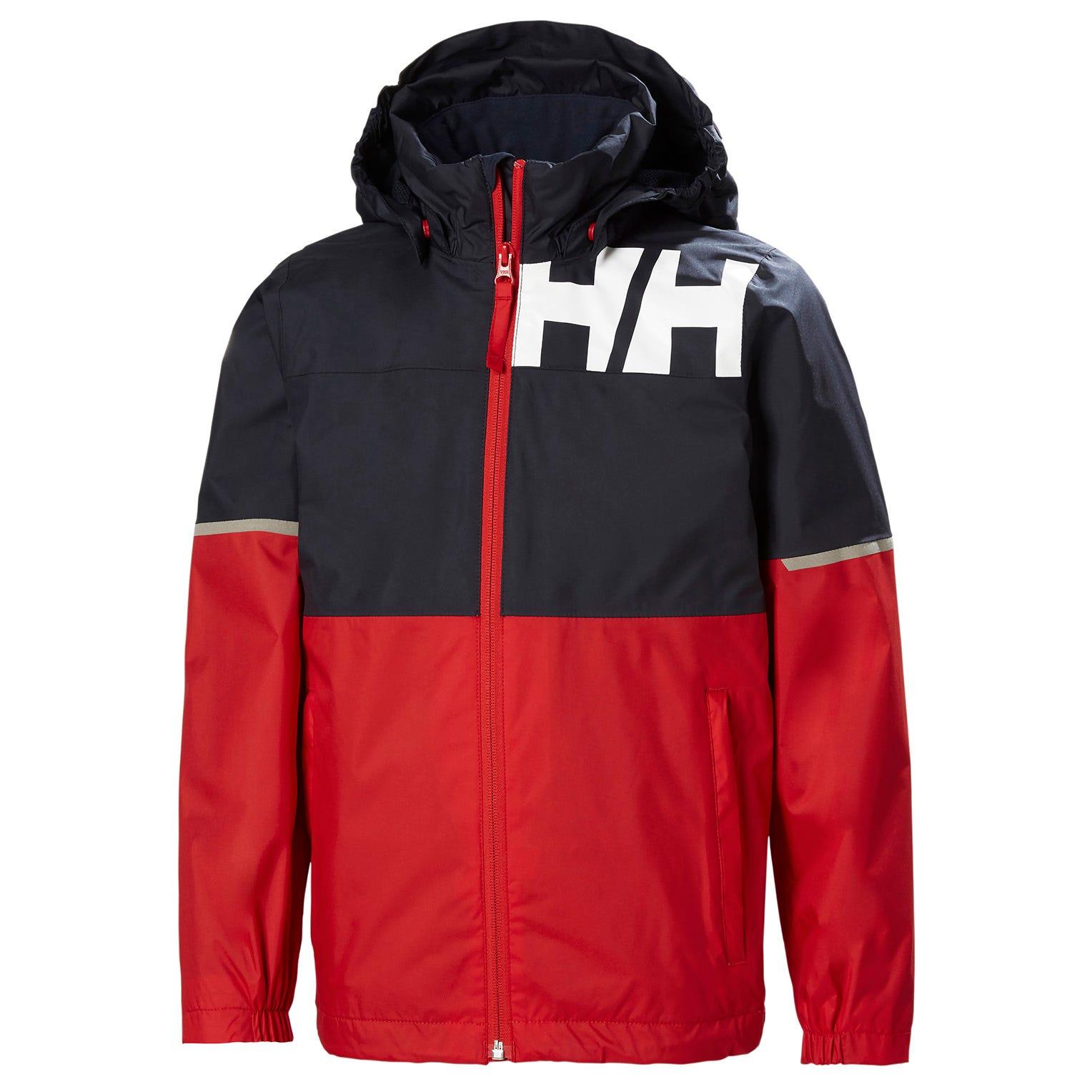Helly Hansen Junior Pursuit Lightweight Rain Jacket Red 164/14
