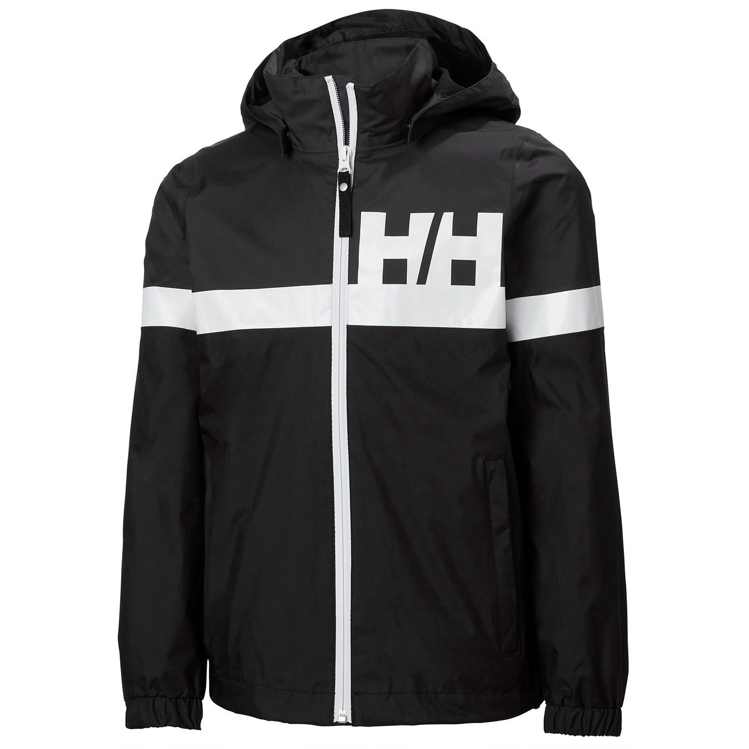 Helly Hansen Juniors Active Classic Quick-dry Rain Jacket Black 140/10