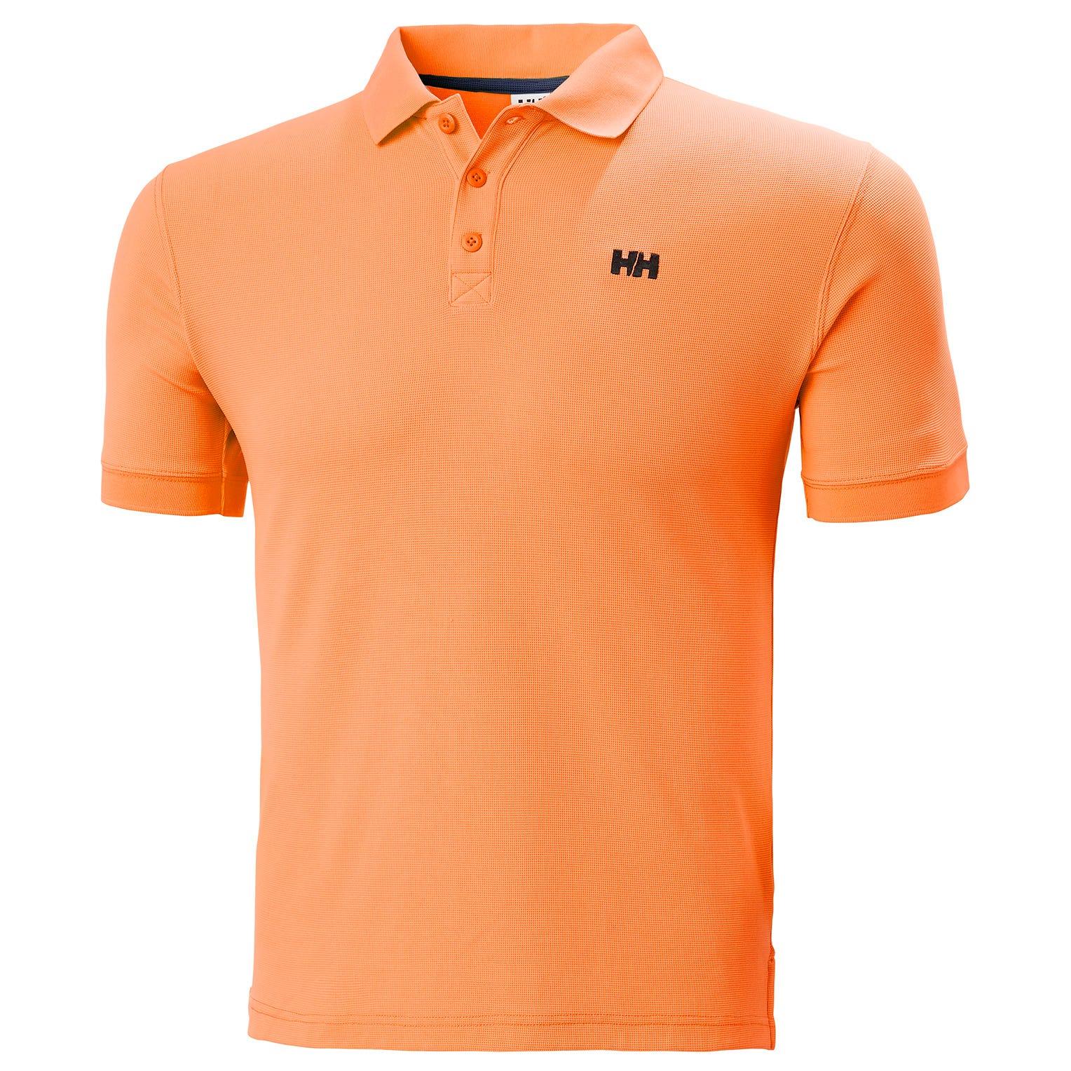 Helly Hansen Mens Driftline Quick-dry Performance Polo Orange L