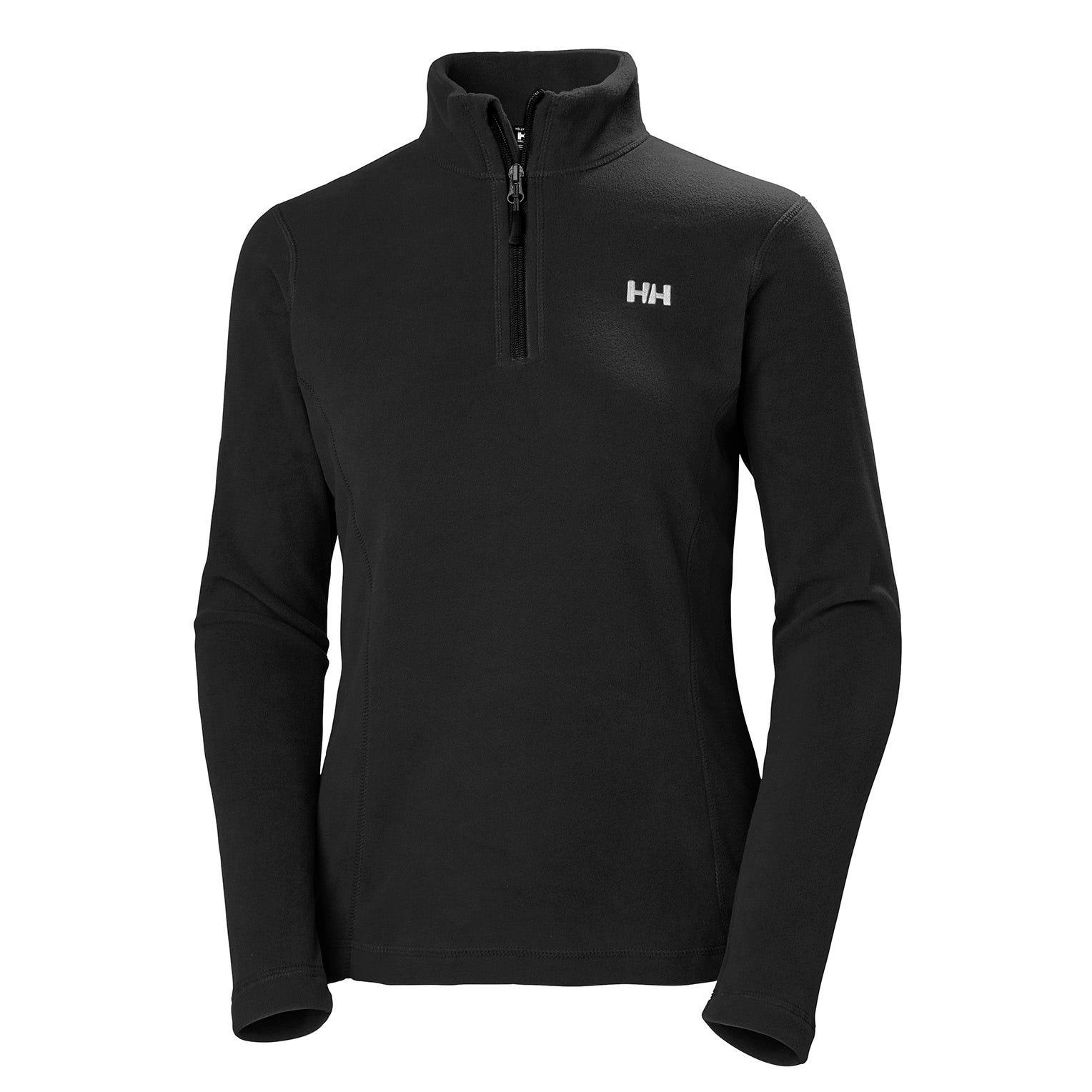 Helly Hansen Womens Daybreaker 1/2 Zip Light Fleece Black Xs