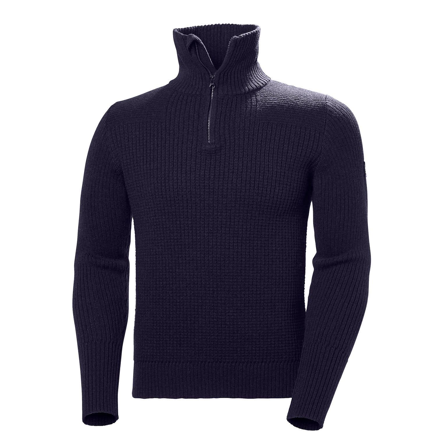 Mens Marka Knitted Wool Jumper | Helly Hansen Mens Fleece Navy XL