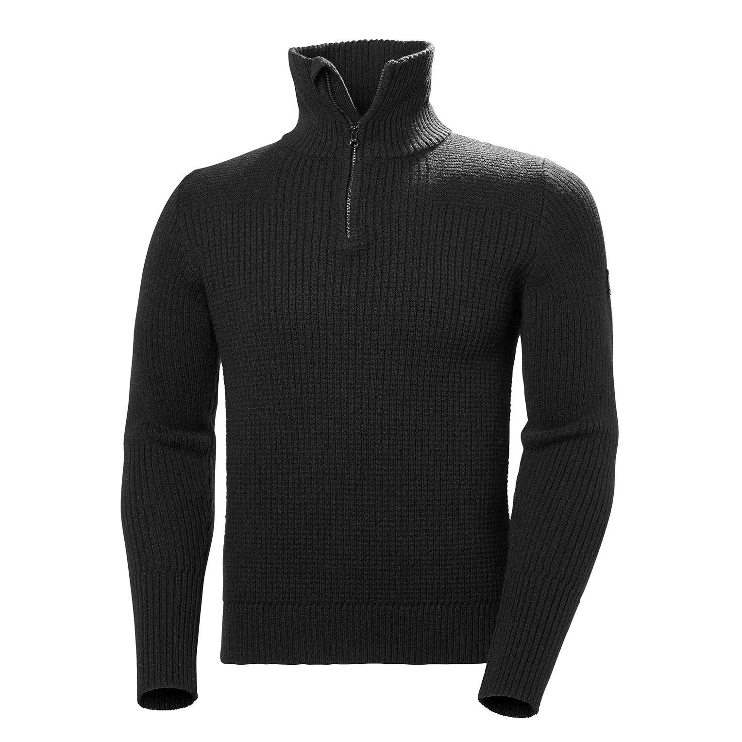 Mens Marka Knitted Wool Jumper | Helly Hansen Mens Fleece Black S