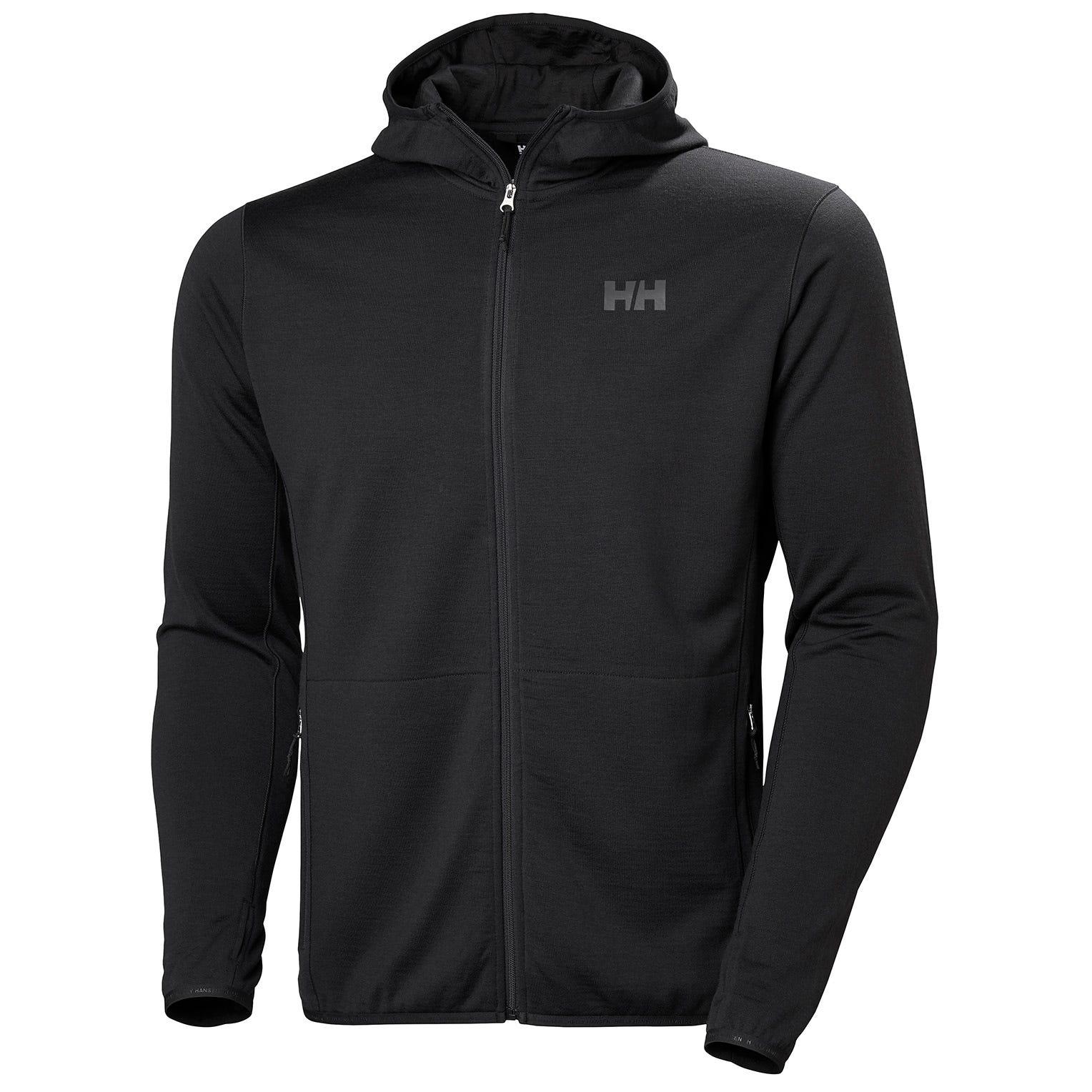 Helly Hansen Mens Merino Fleece Hooded Jacket Black L