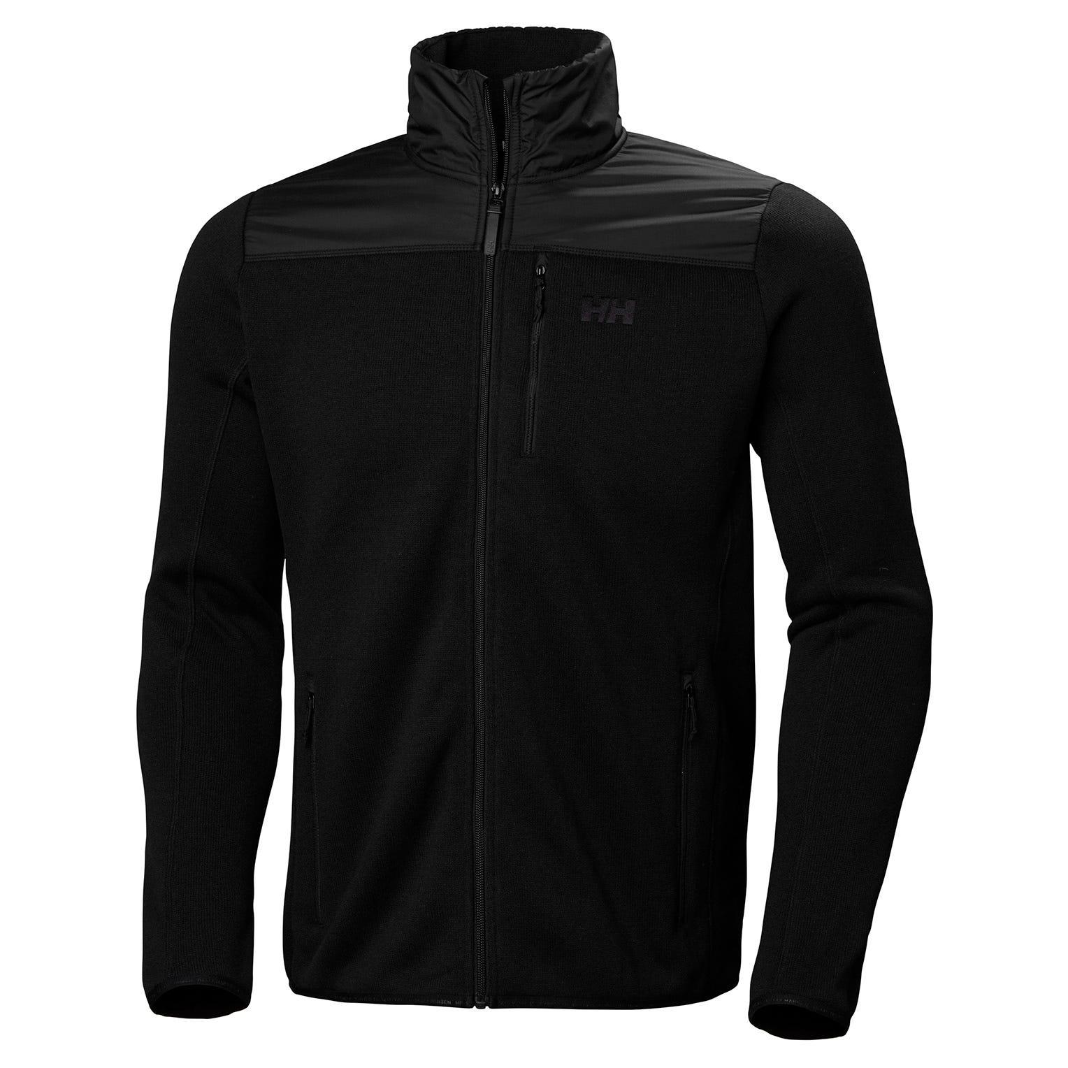 Helly Hansen Mens Varde Knitted Textured Fleece Jacket Black M