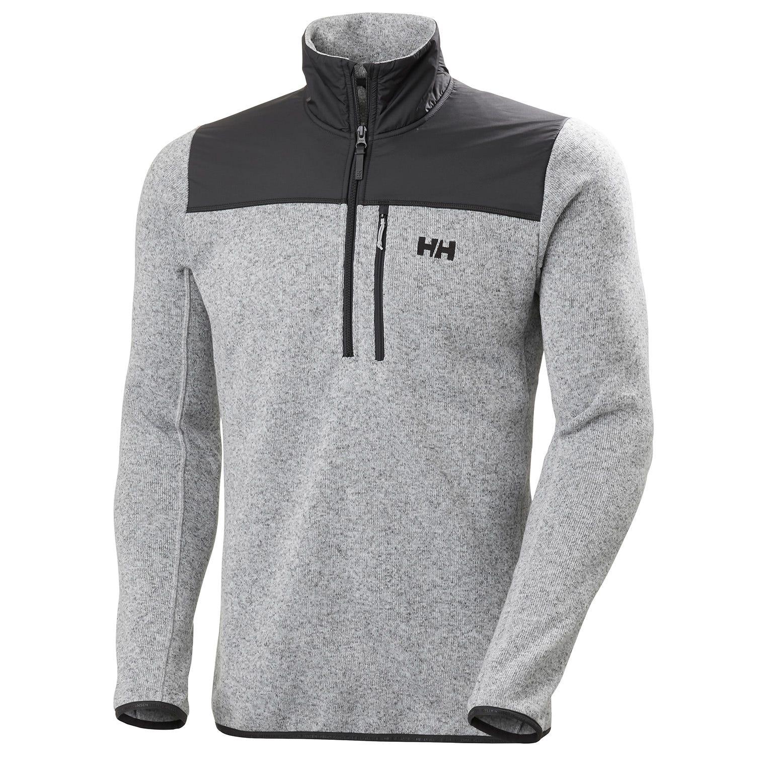 Helly Hansen Mens Varde 1/2 Zip Textured Fleece Jacket Grey L