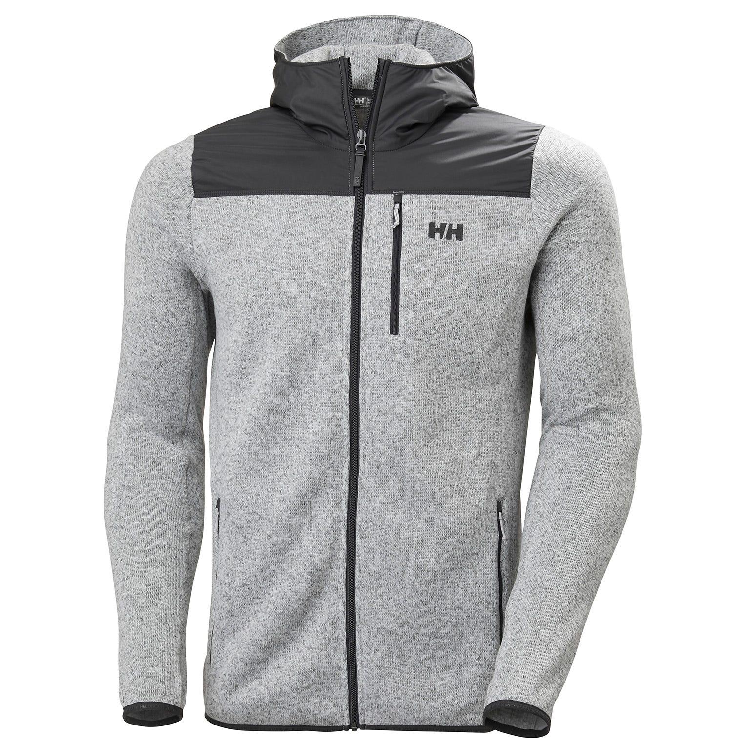 Helly Hansen Mens Varde Hooded Fleece Jacket Grey M