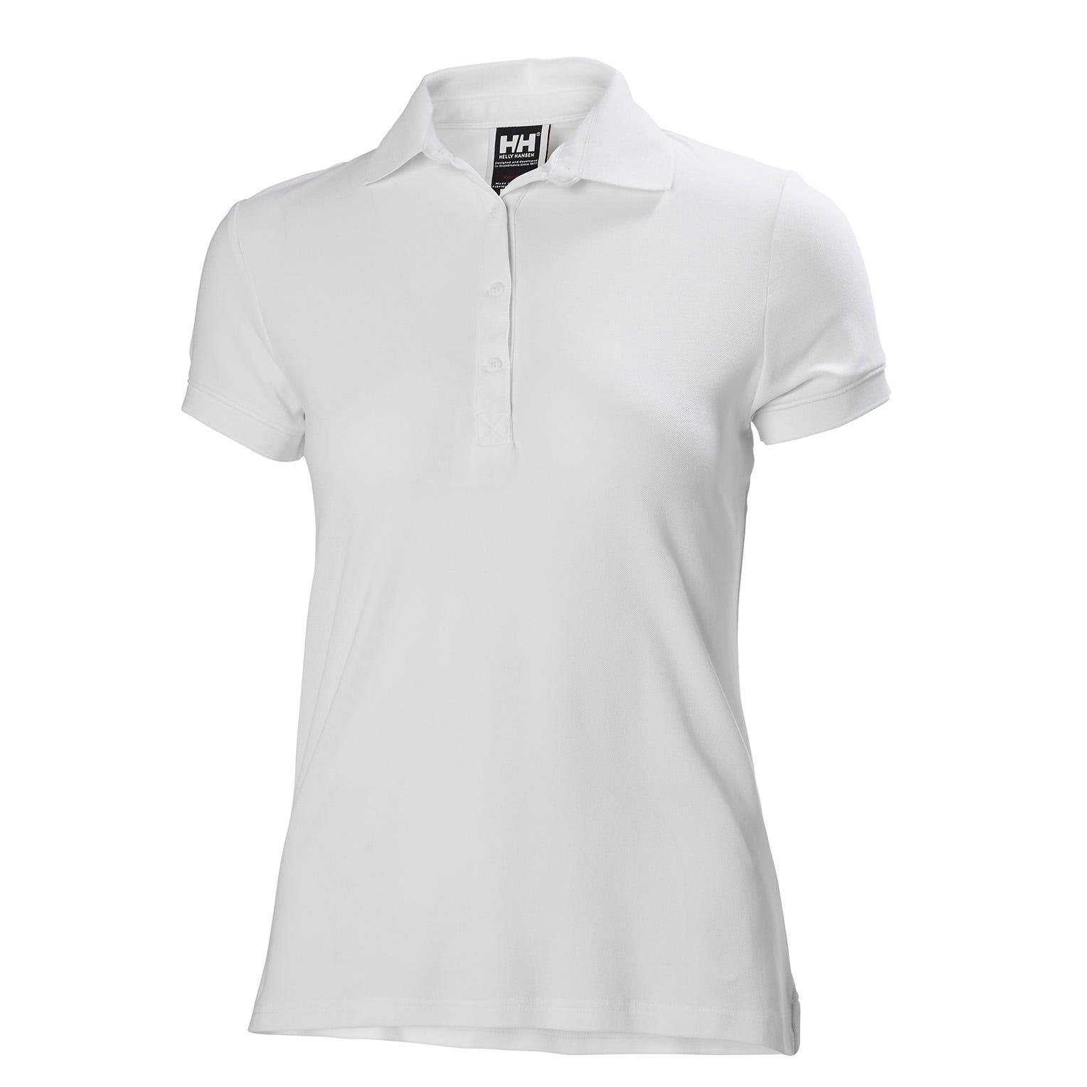 Helly Hansen Womens Crewline Quick-dry Stretch Polo Shirt White Xl