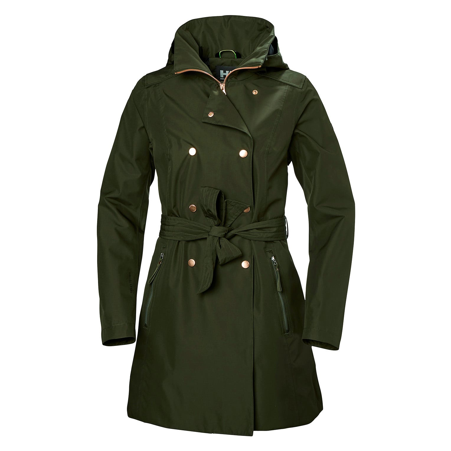 Womens Welsey Ii Updated Trench Coat | Helly Hansen Womens Rain Jacket Green L
