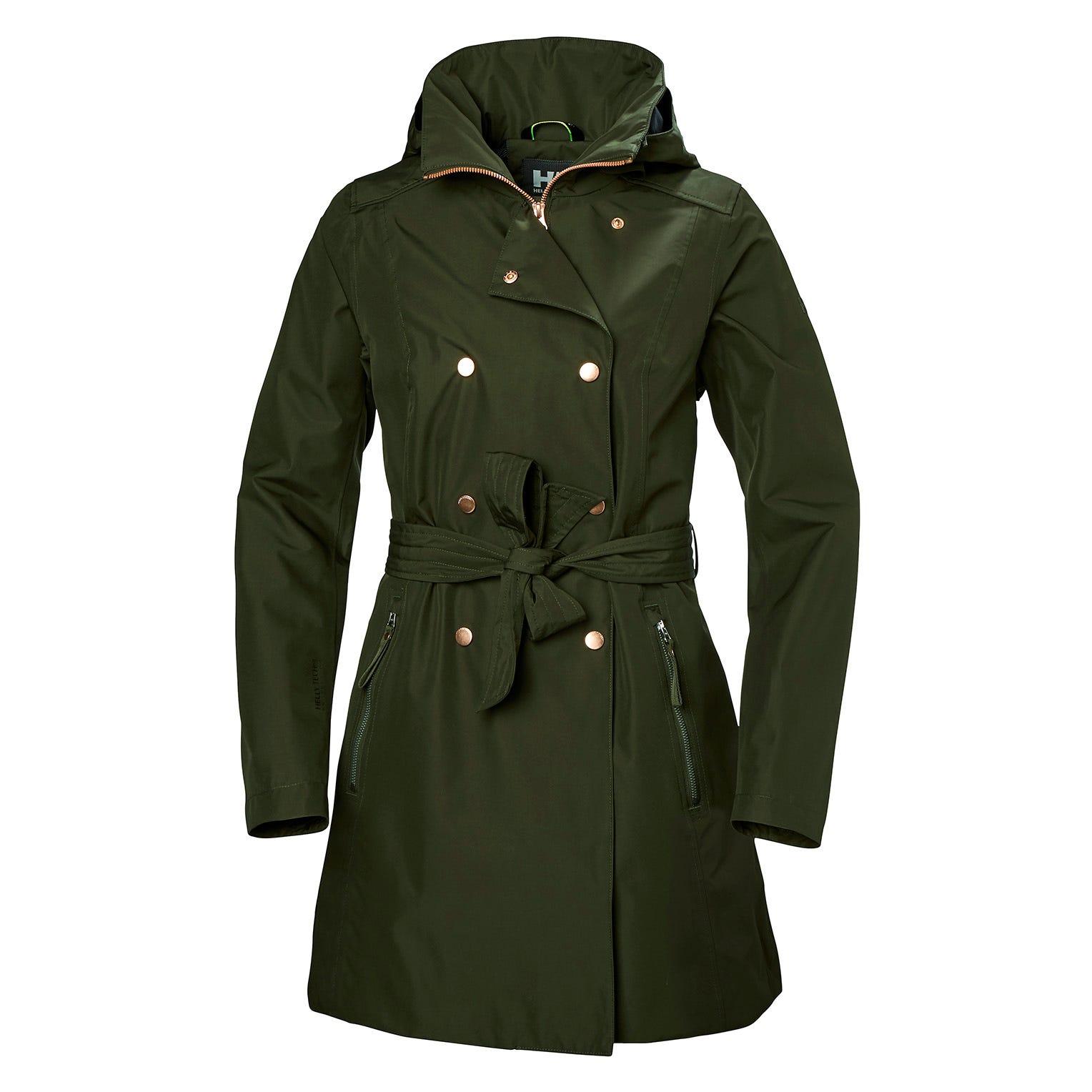 Helly Hansen Womens Welsey Ii Trench Coat Green S