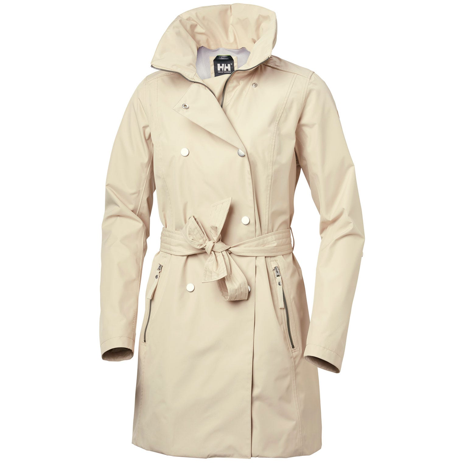 Womens Welsey Ii Updated Trench Coat | Helly Hansen Womens Rain Jacket Beige XS