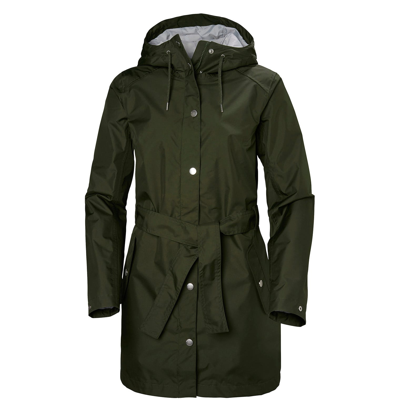 Womens Lyness Ii Retro 3/4 Length Rain Coat | Helly Hansen Womens Jacket Green XL