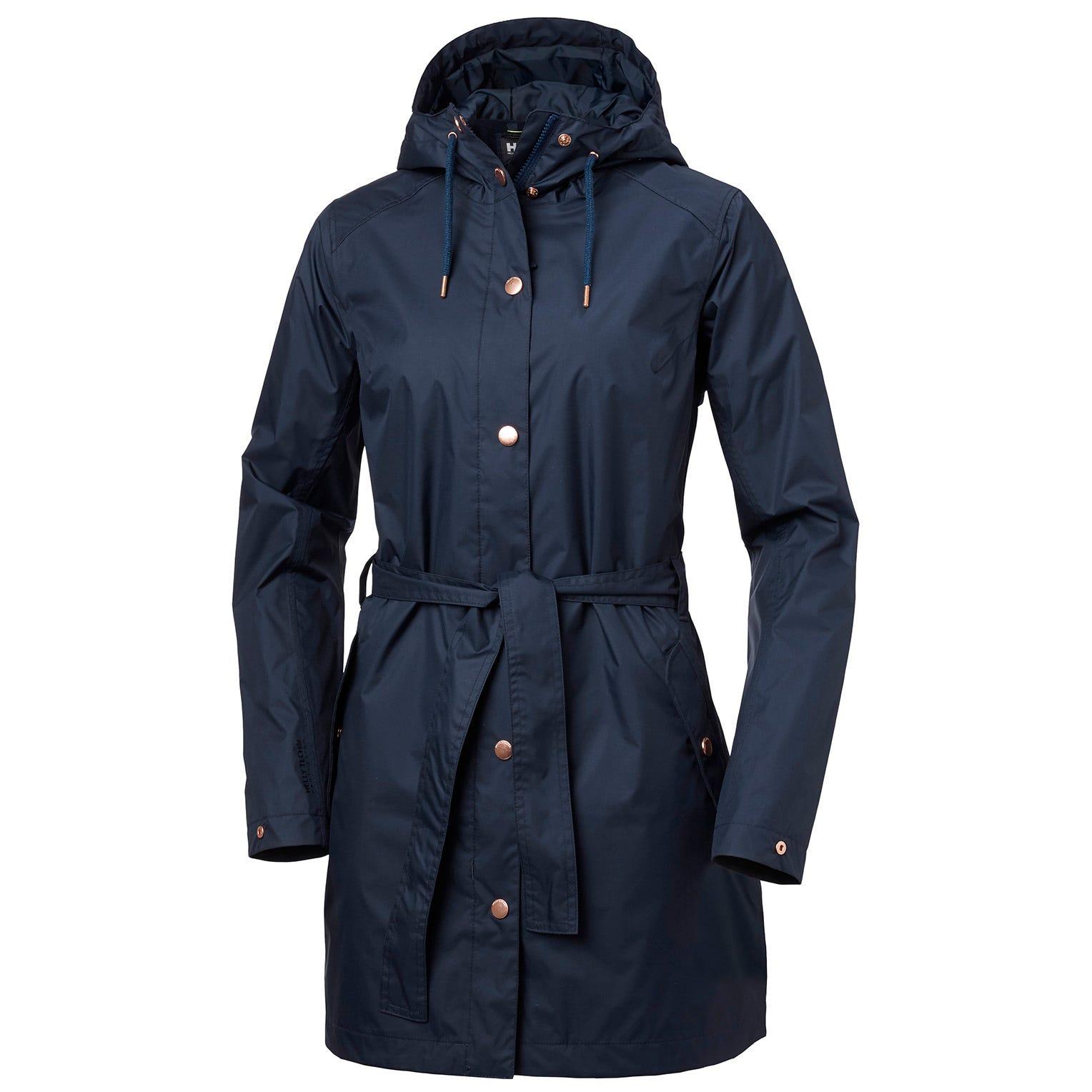 Womens Lyness Ii Retro 3/4 Length Rain Coat   Helly Hansen Womens Jacket Navy S