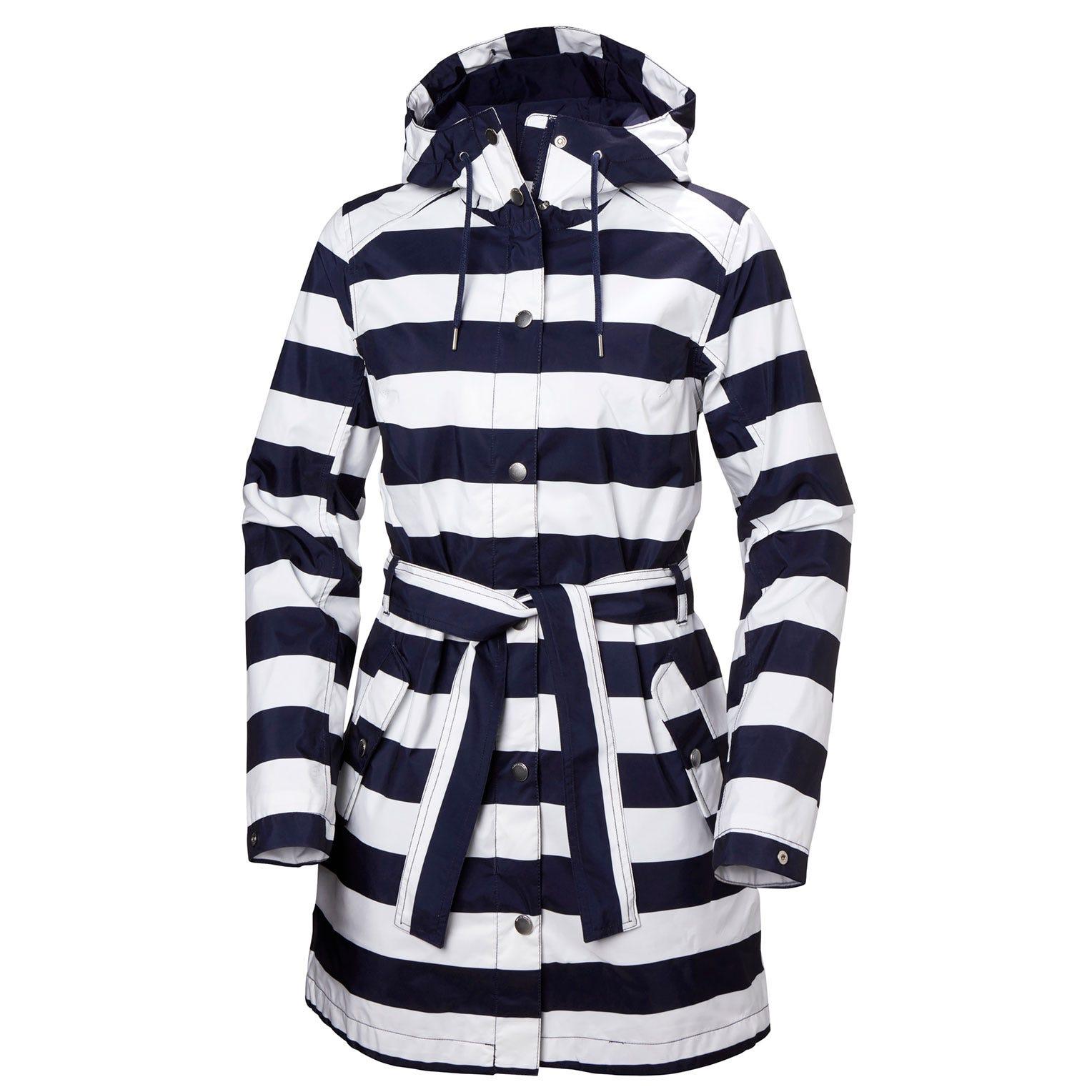 Helly Hansen Womens Lyness Ii Retro 3/4 Length Rain Coat Navy S