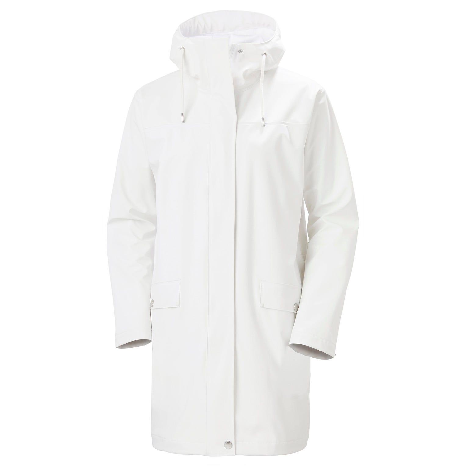Womens Moss Waterproof Rain Coat | Helly Hansen Womens Jacket White XL