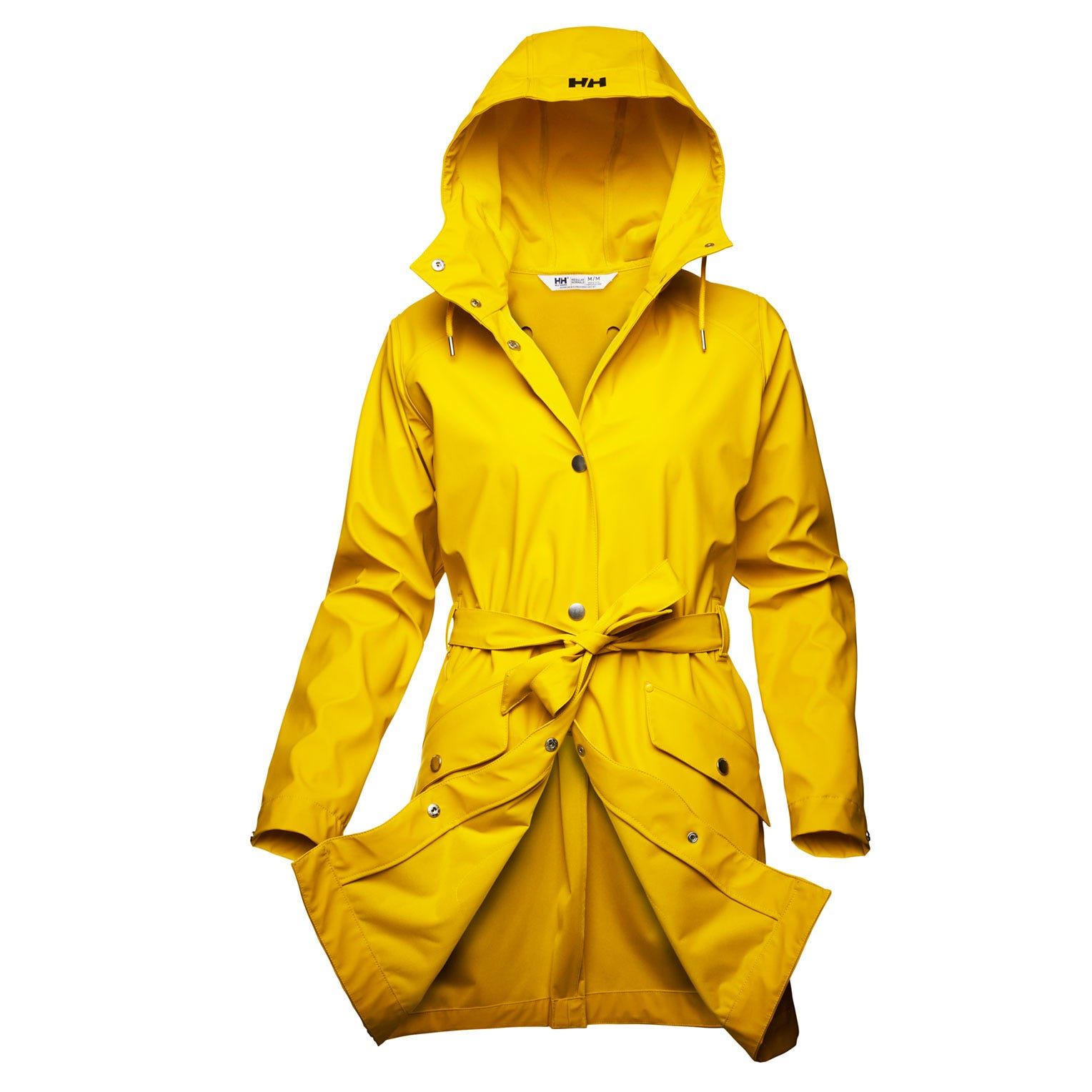 Helly Hansen Womens Kirkwall Ii Raincoat Rain Jacket Yellow M