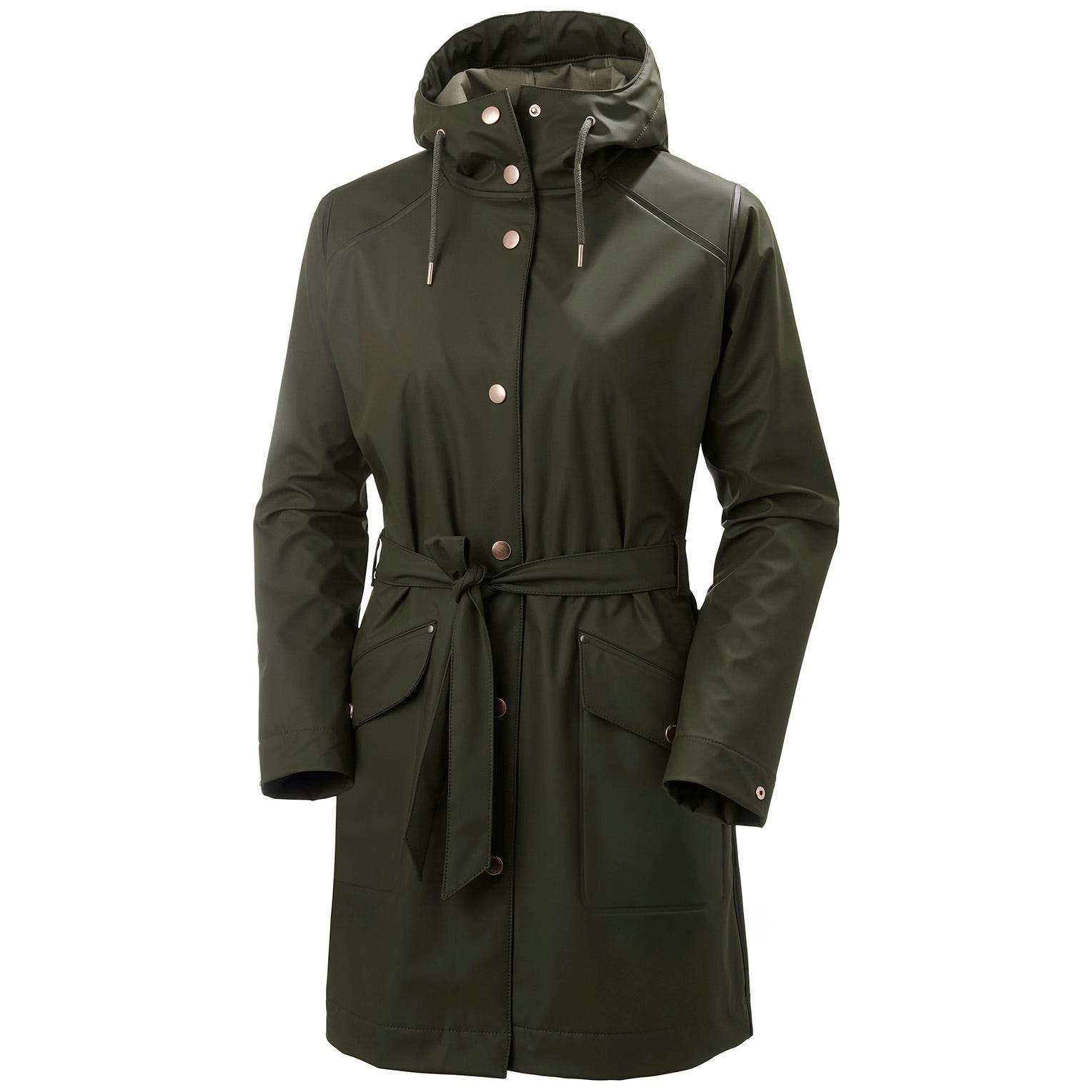 Womens Kirkwall Ii Fully Waterproof Raincoat | Helly Hansen Womens Rain Jacket Green XL