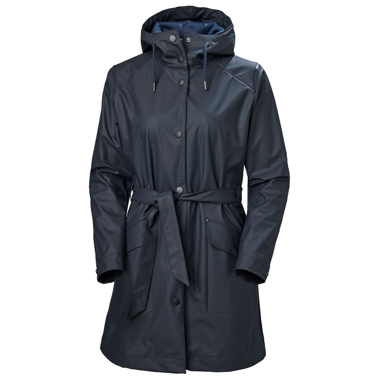 Helly Hansen Womens Kirkwall Ii Raincoat Rain Jacket Navy L