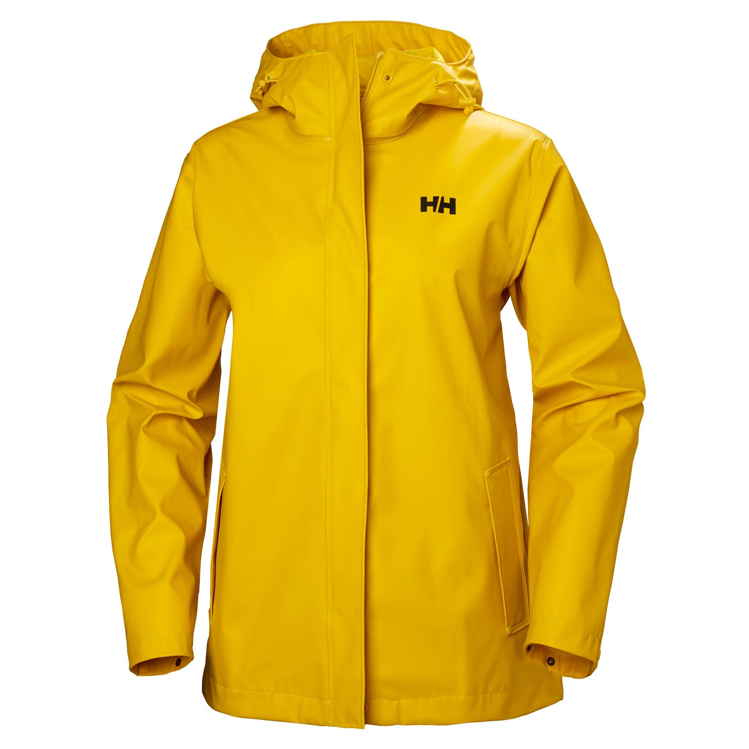 Helly Hansen Womens Moss Rain Jacket Yellow XS