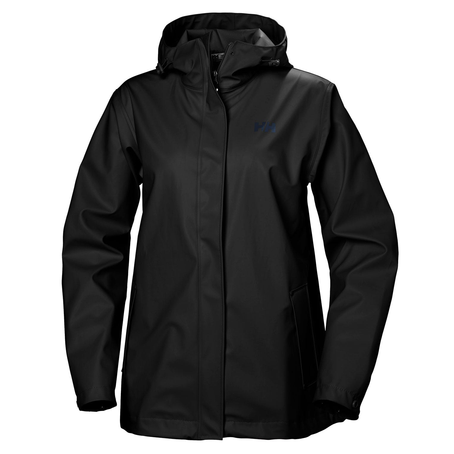 Helly Hansen Womens Moss Rain Jacket Black XS