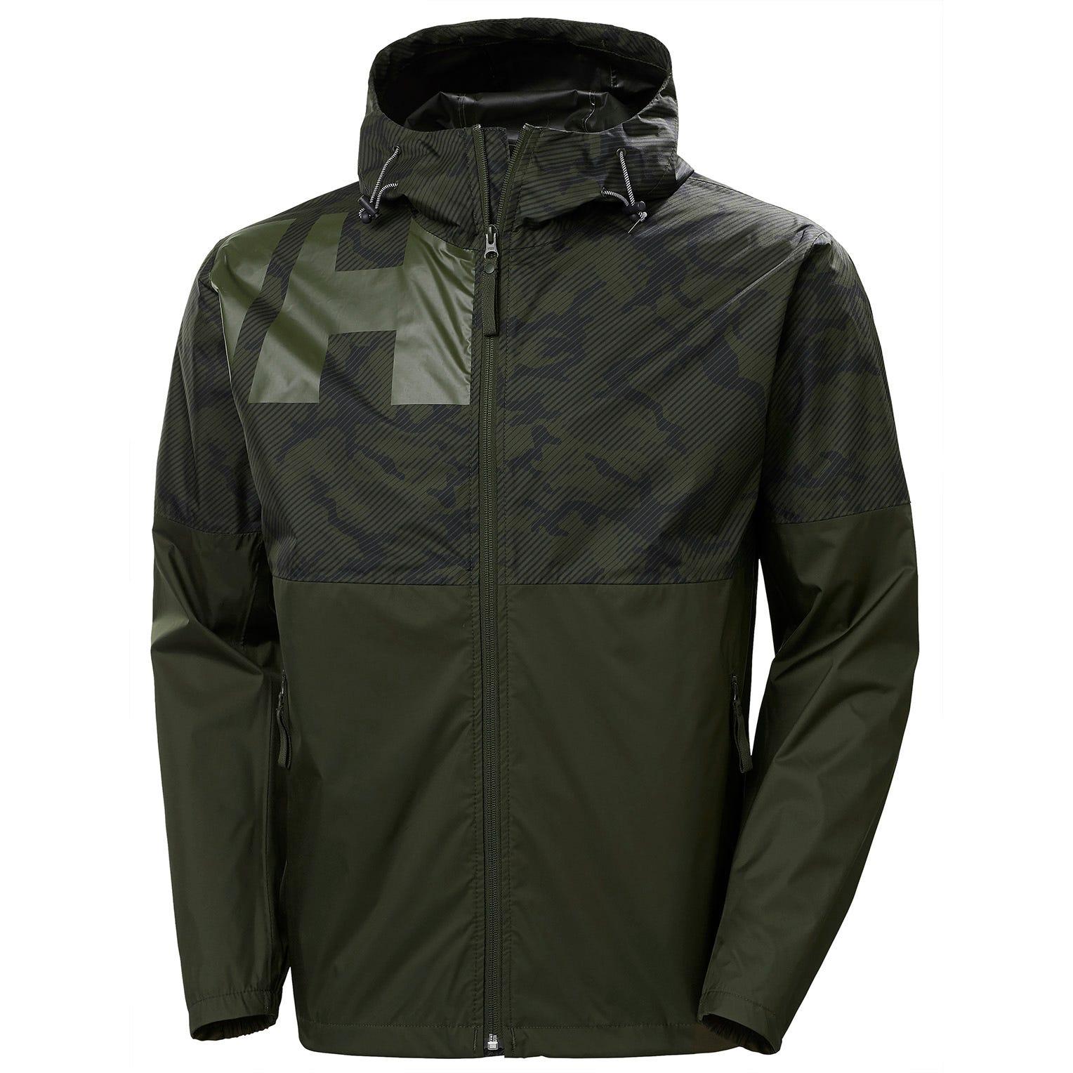 Helly Hansen Mens Pursuit Rain Jacket Green XXL