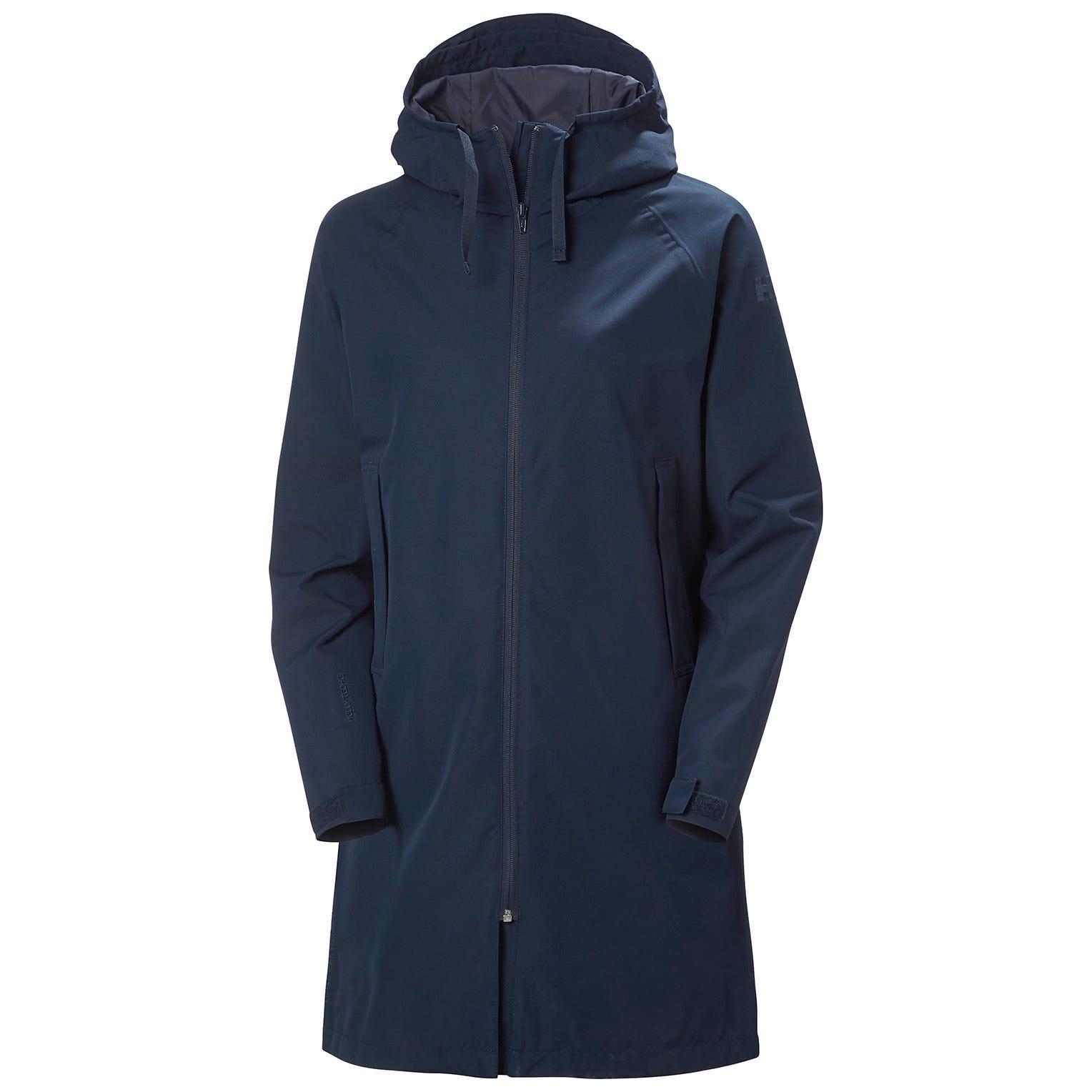 Helly Hansen Womens Mono Material Waterproof Raincoat Navy L
