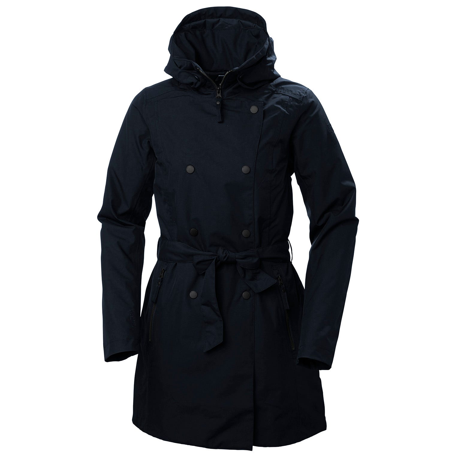 Helly Hansen Womens Welsey Ii Insulated Trench Coat Navy L