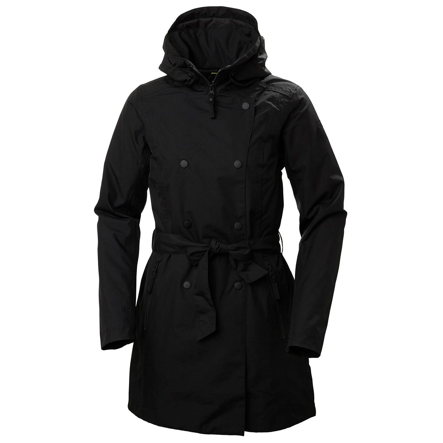 Womens Welsey Ii Insulated Trench Coat | Helly Hansen Womens Rain Jacket Black S