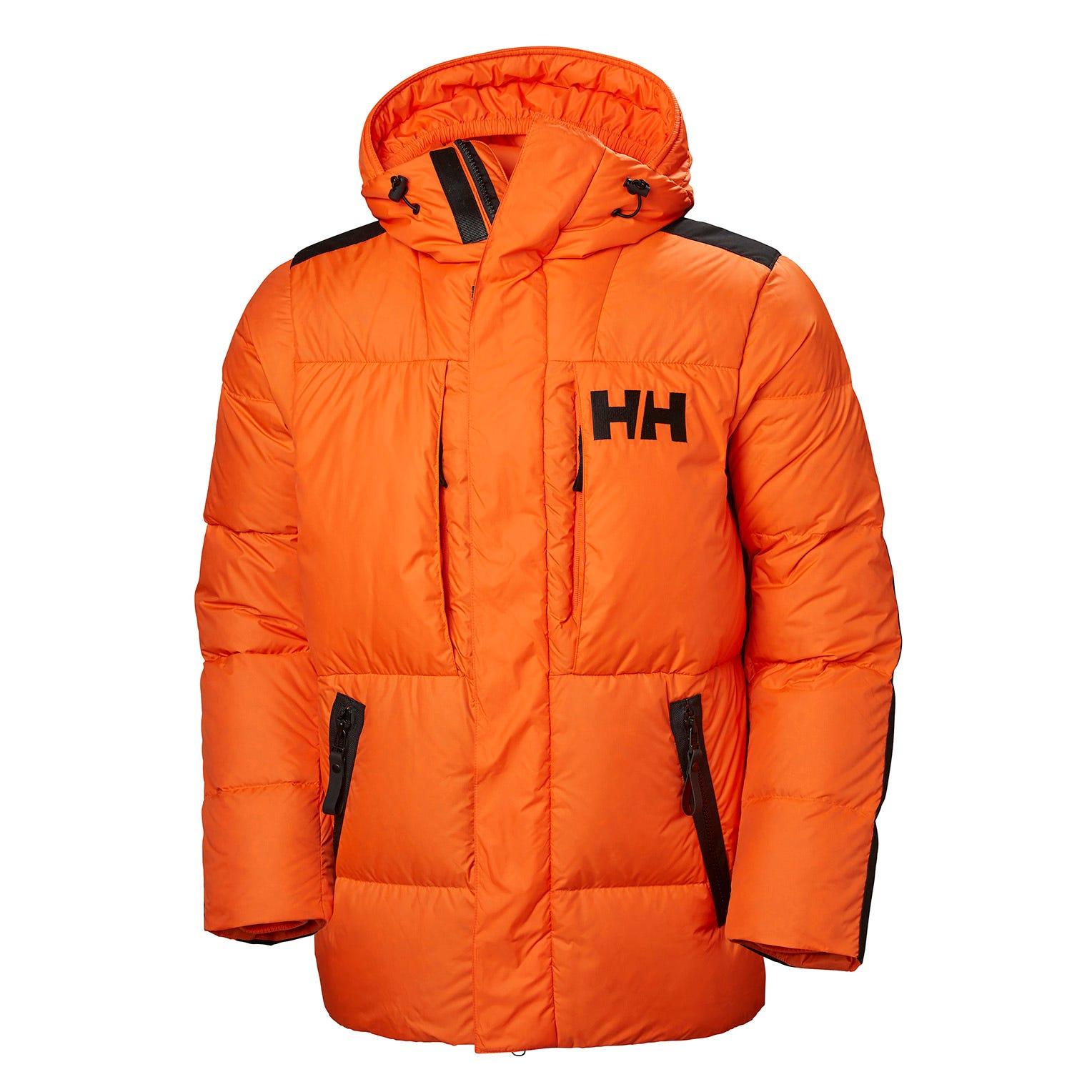 Helly Hansen Mens Arctic Patrol Down Parka Orange XXL