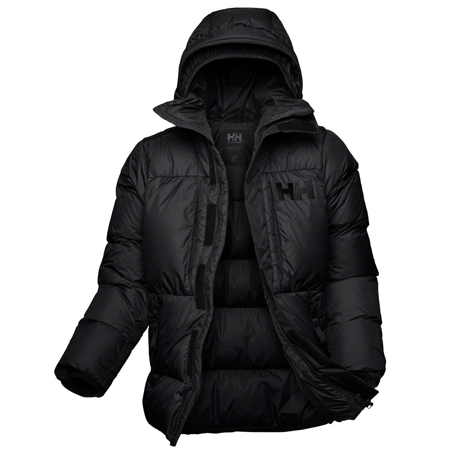 Mens Arctic Patrol Body Mapping Down Parka | Helly Hansen Mens Black XXL