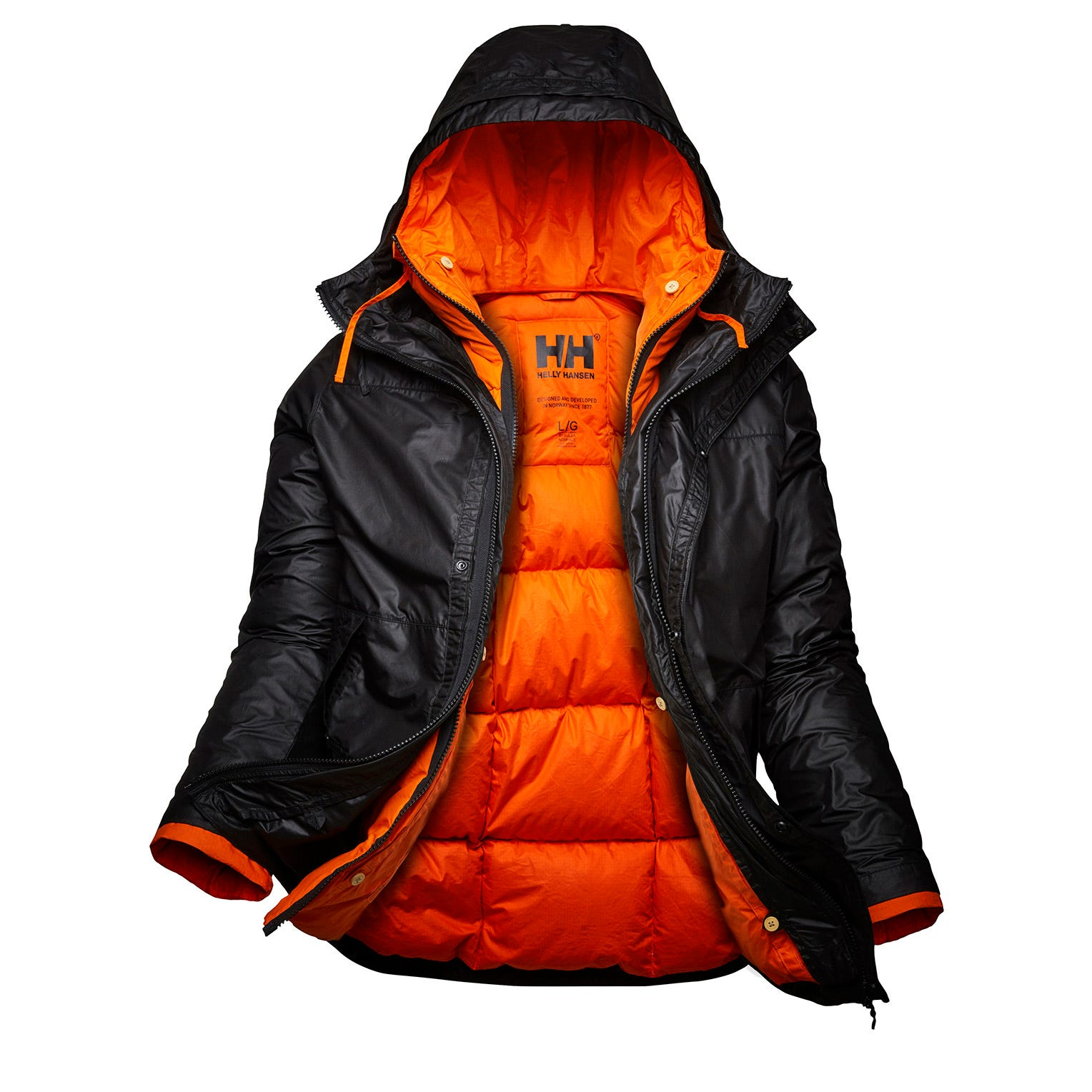 Helly Hansen Mens Arctic Patrol 3-in-1 Jacket Parka Black S