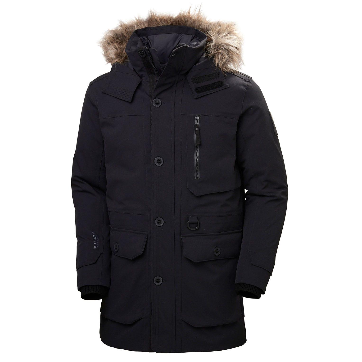 Mens Longyear Ii Warm Down Winter Parka | Helly Hansen Mens Black L
