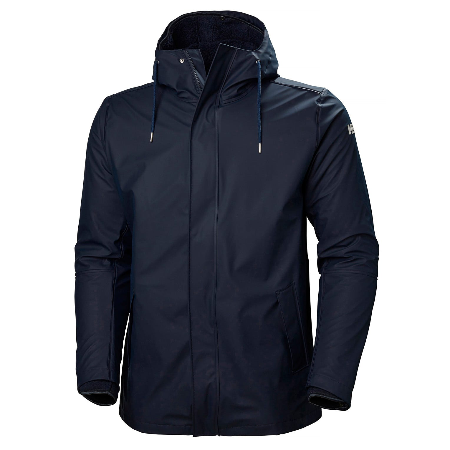 Helly Hansen Mens Moss Insulated Rain Coat Jacket Navy S