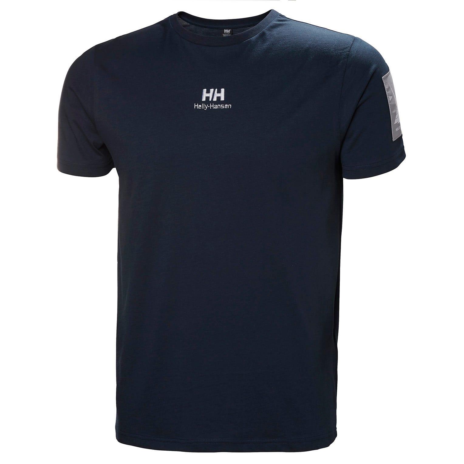 Helly Hansen Mens Yu Twin Logo 100% Cotton T-shirt Navy XL