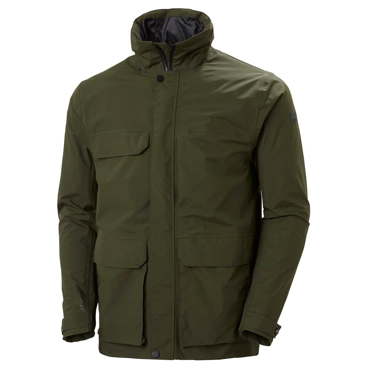 Helly Hansen Mens Utility Waterproof Rain Jacket Green M