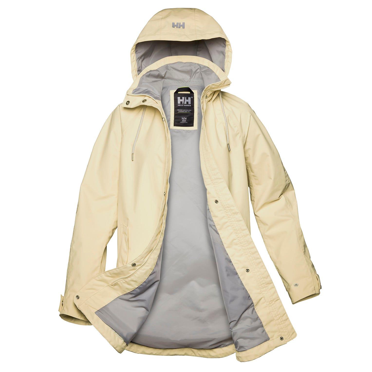 Helly Hansen Womens Valentia Windproof Raincoat White L